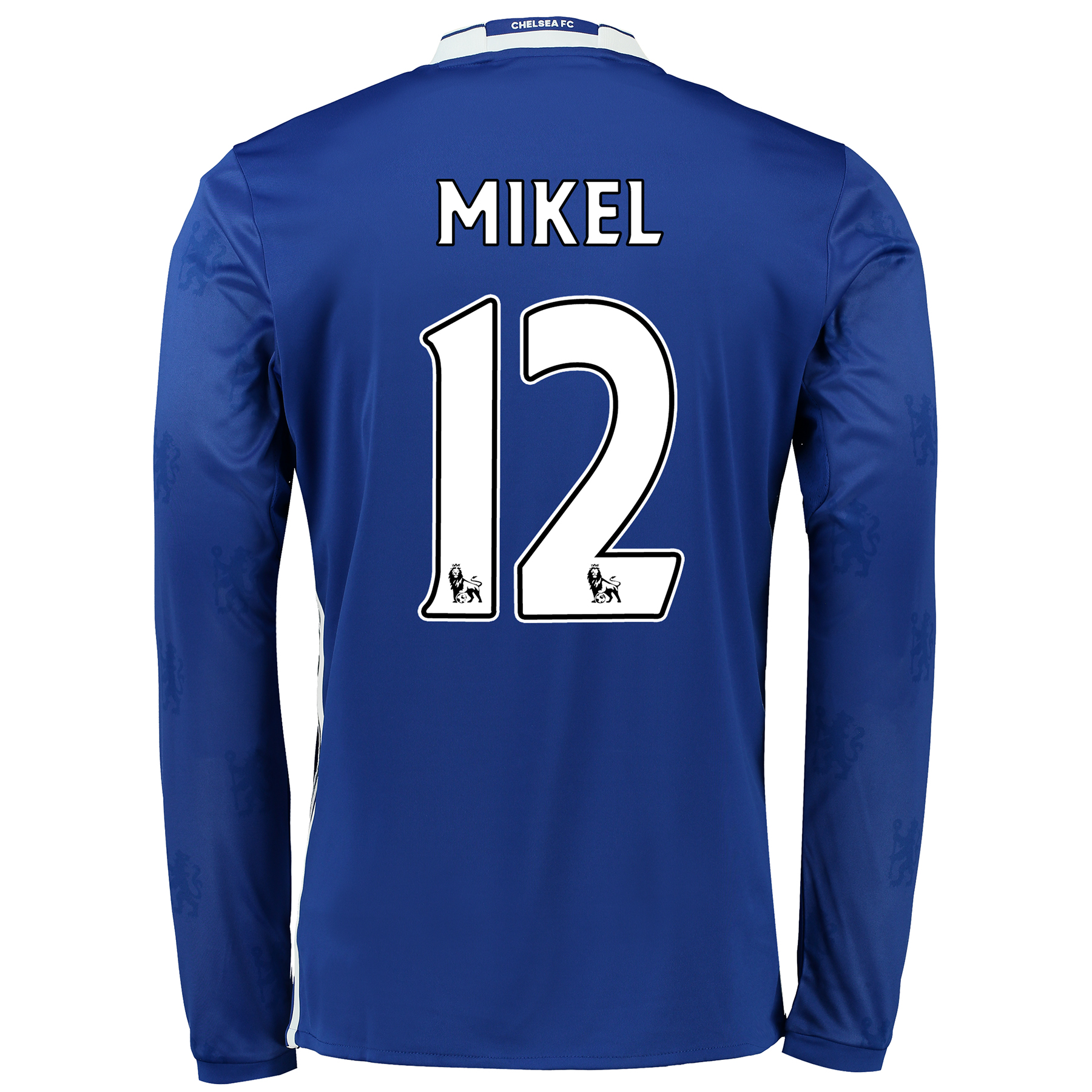 Chelsea Home Shirt 2016-17 - Long Sleeve with Mikel 12 printing