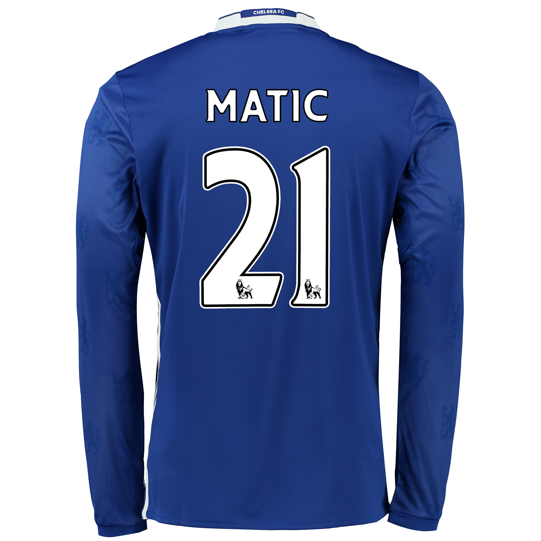 Chelsea Home Shirt 2016-17 - Long Sleeve with Matic 21 printing
