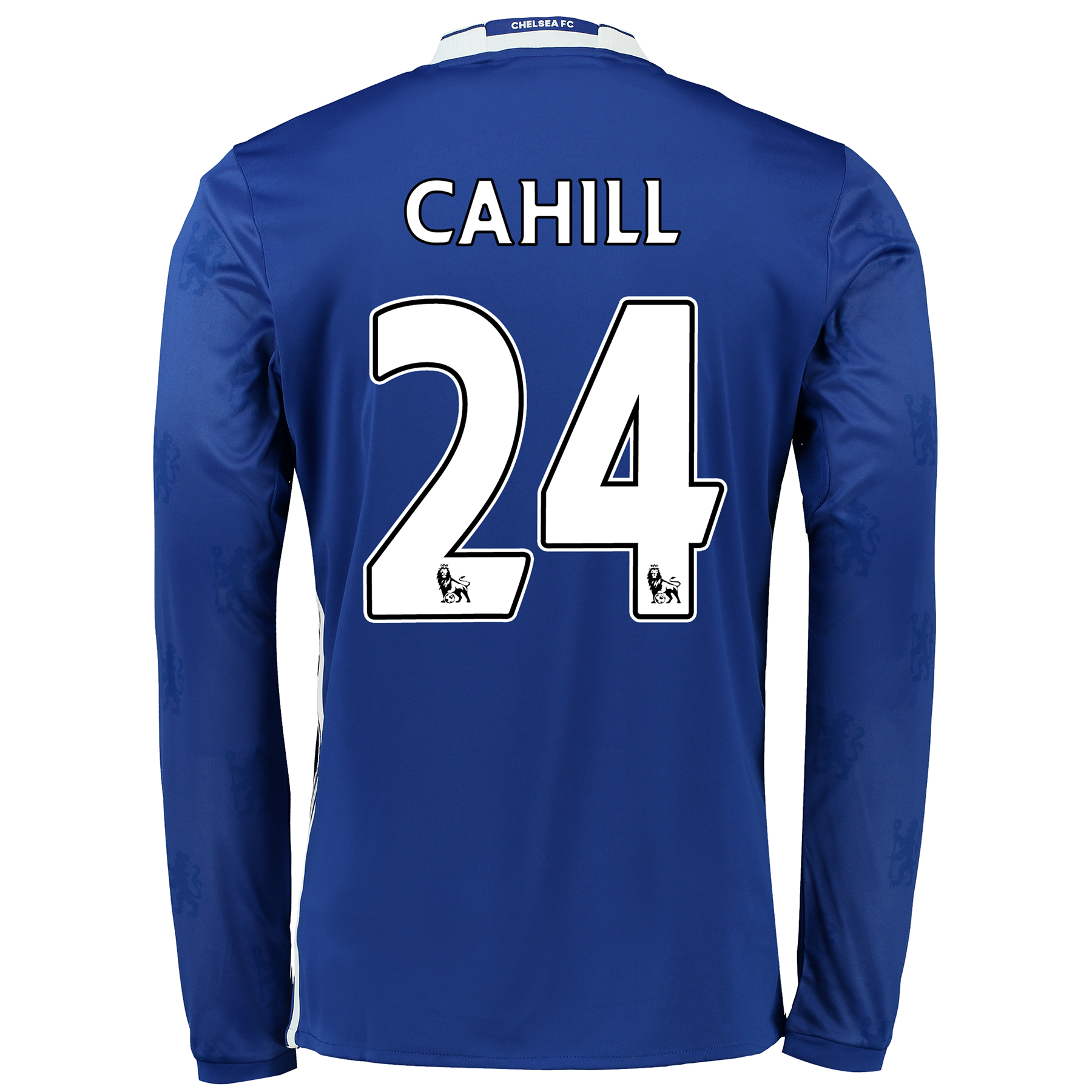 Chelsea Home Shirt 2016-17 - Long Sleeve with Cahill 24 printing