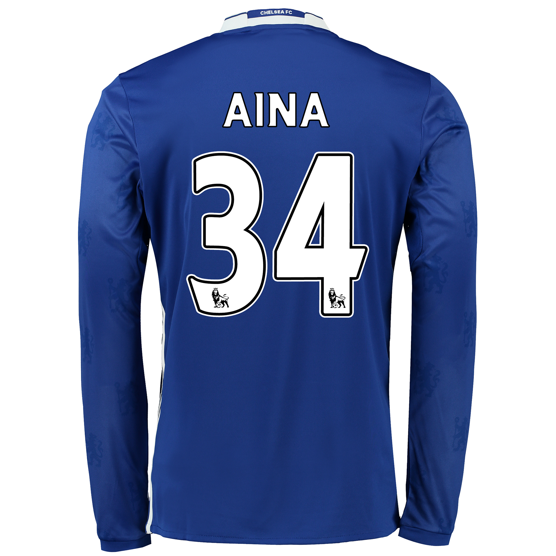 Chelsea Home Shirt 2016-17 - Kids - Long Sleeve with Aina 34 printing
