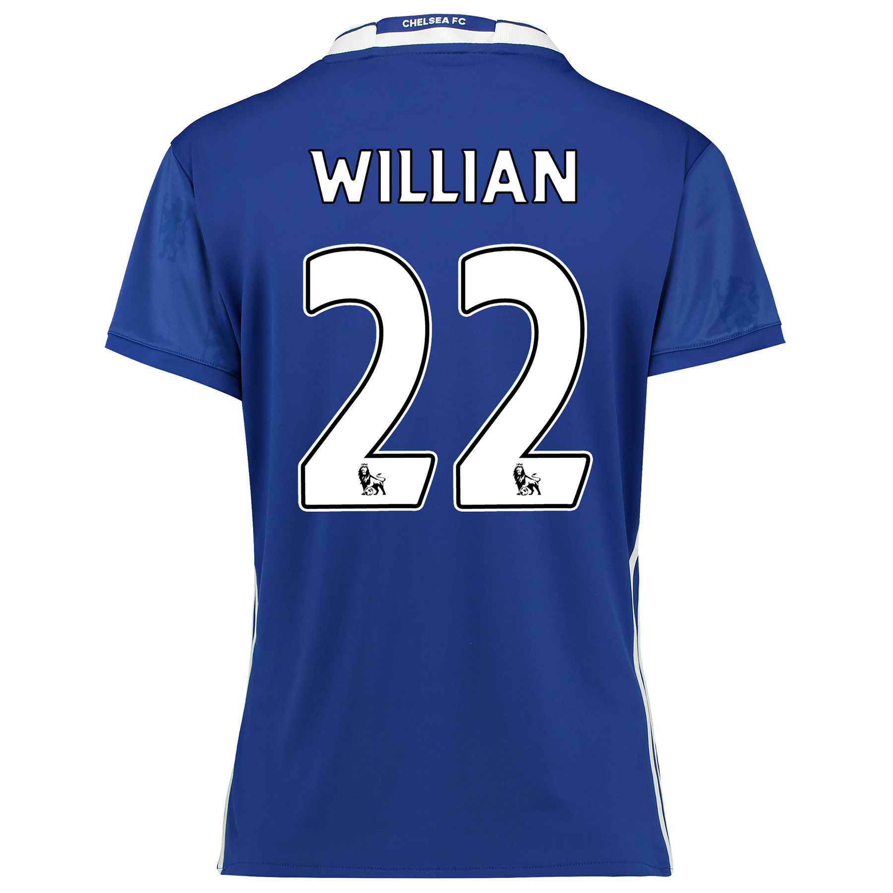 Chelsea Home Shirt 2016-17 - Womens Fit with Willian 22 printing