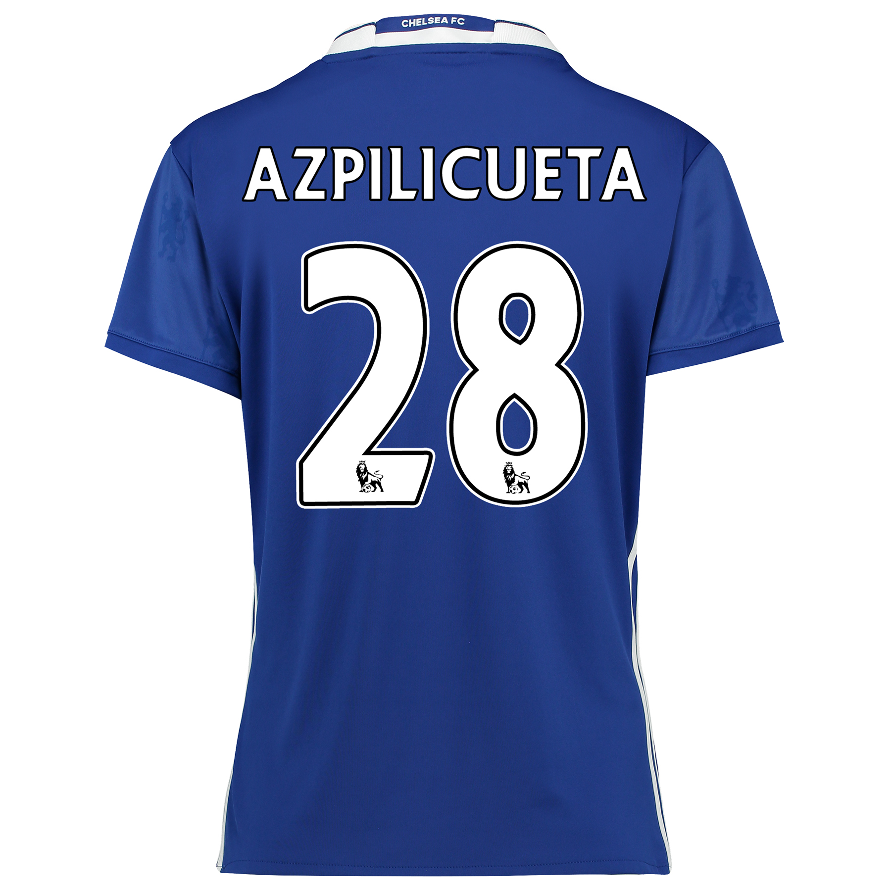 Chelsea Home Shirt 2016-17 - Womens Fit with Azpilicueta 28 printing