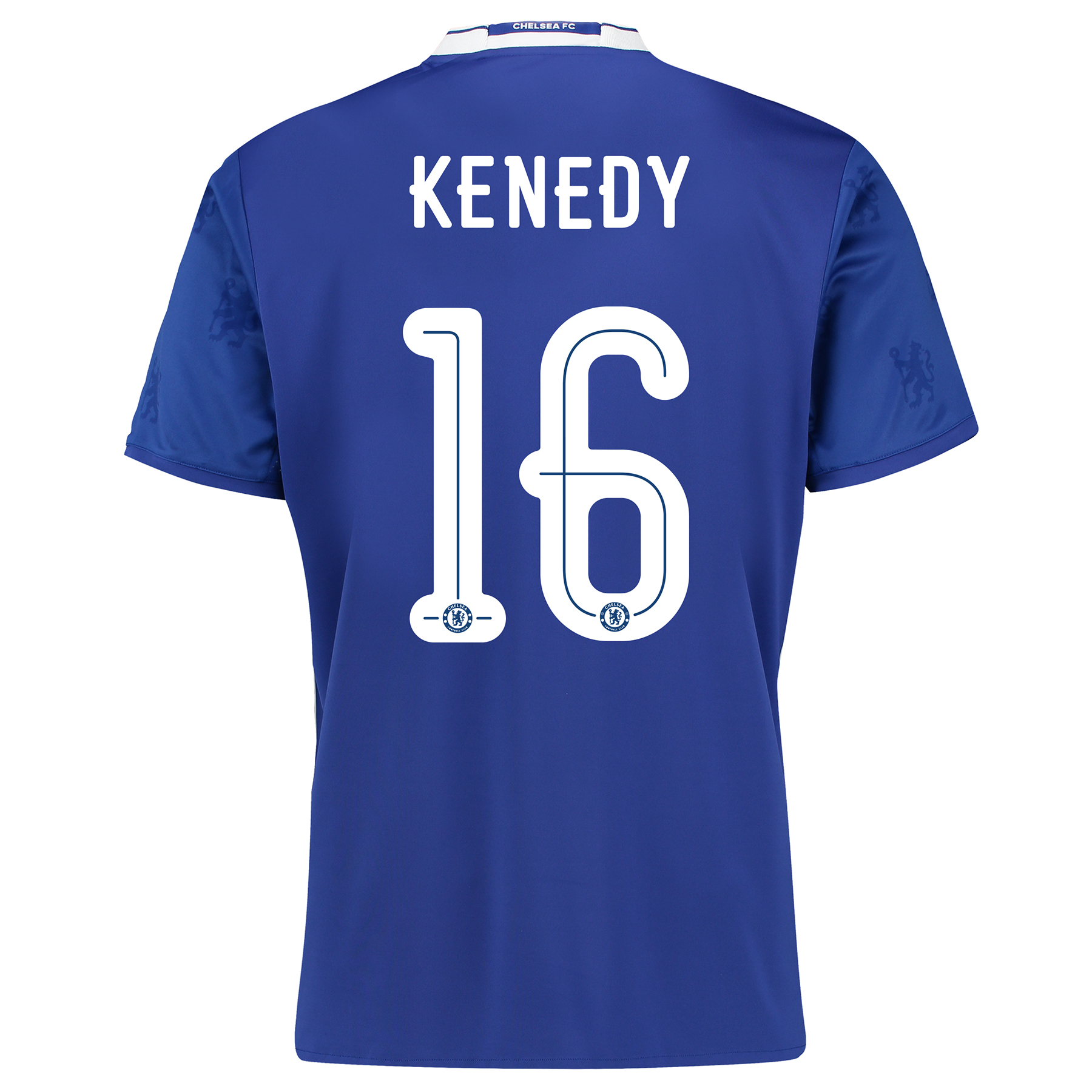 Chelsea Linear Home Shirt 2016-17 with Kenedy 16 printing