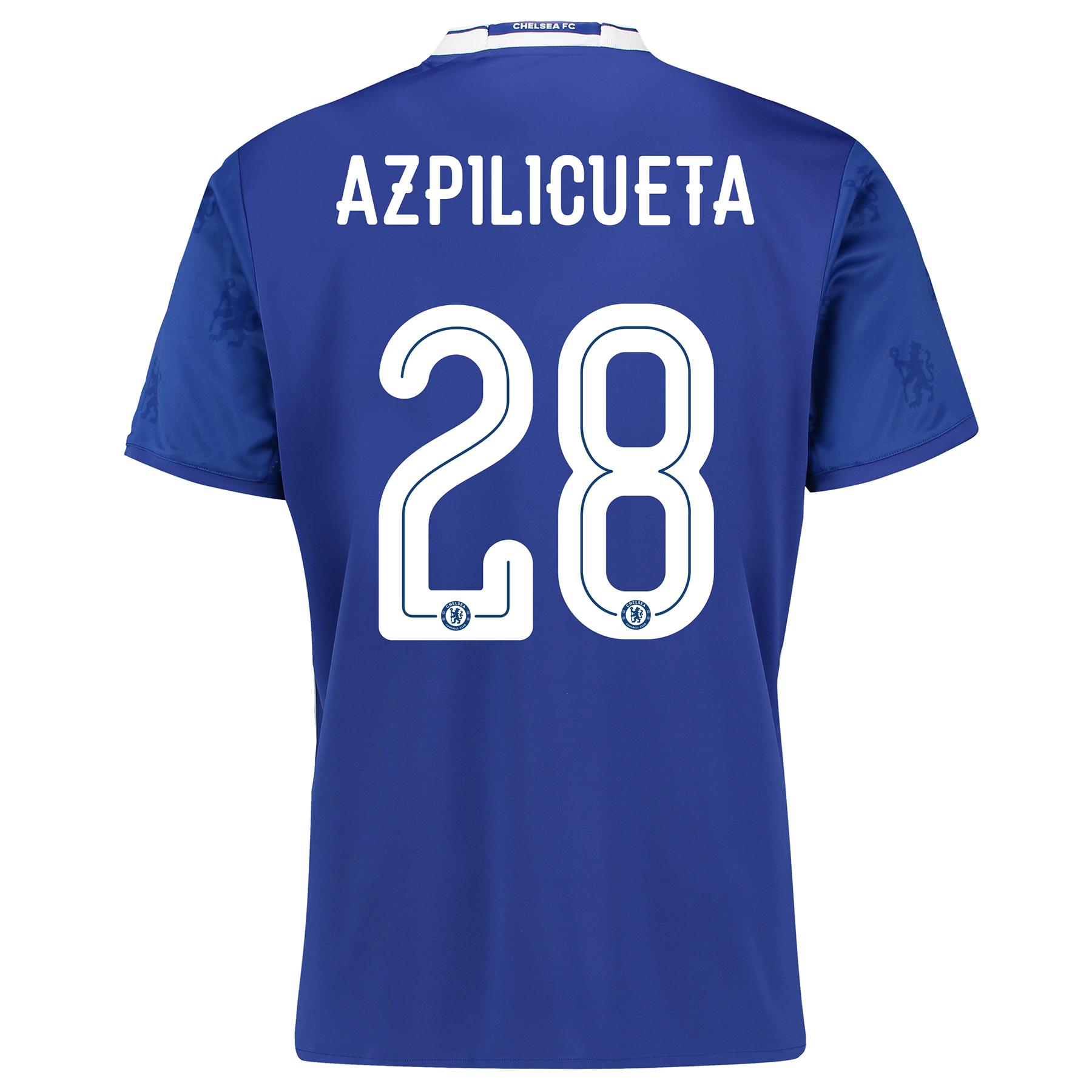 Chelsea Linear Home Shirt 2016-17 with Azpilicueta 28 printing