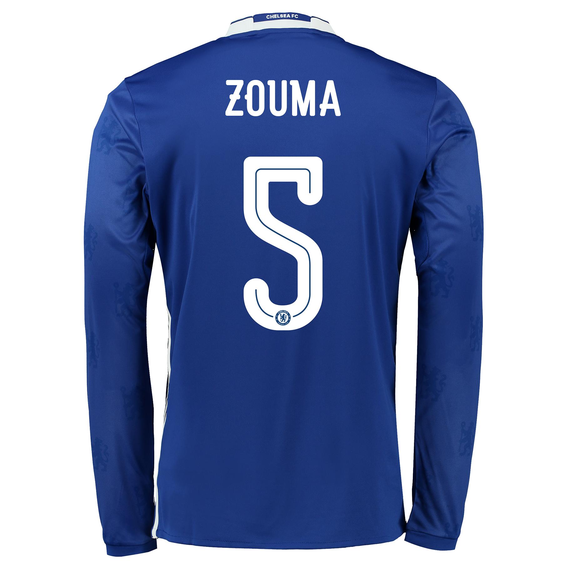 Chelsea Linear Home Shirt 2016-17 - Long Sleeve with ZOUMA 5 printing
