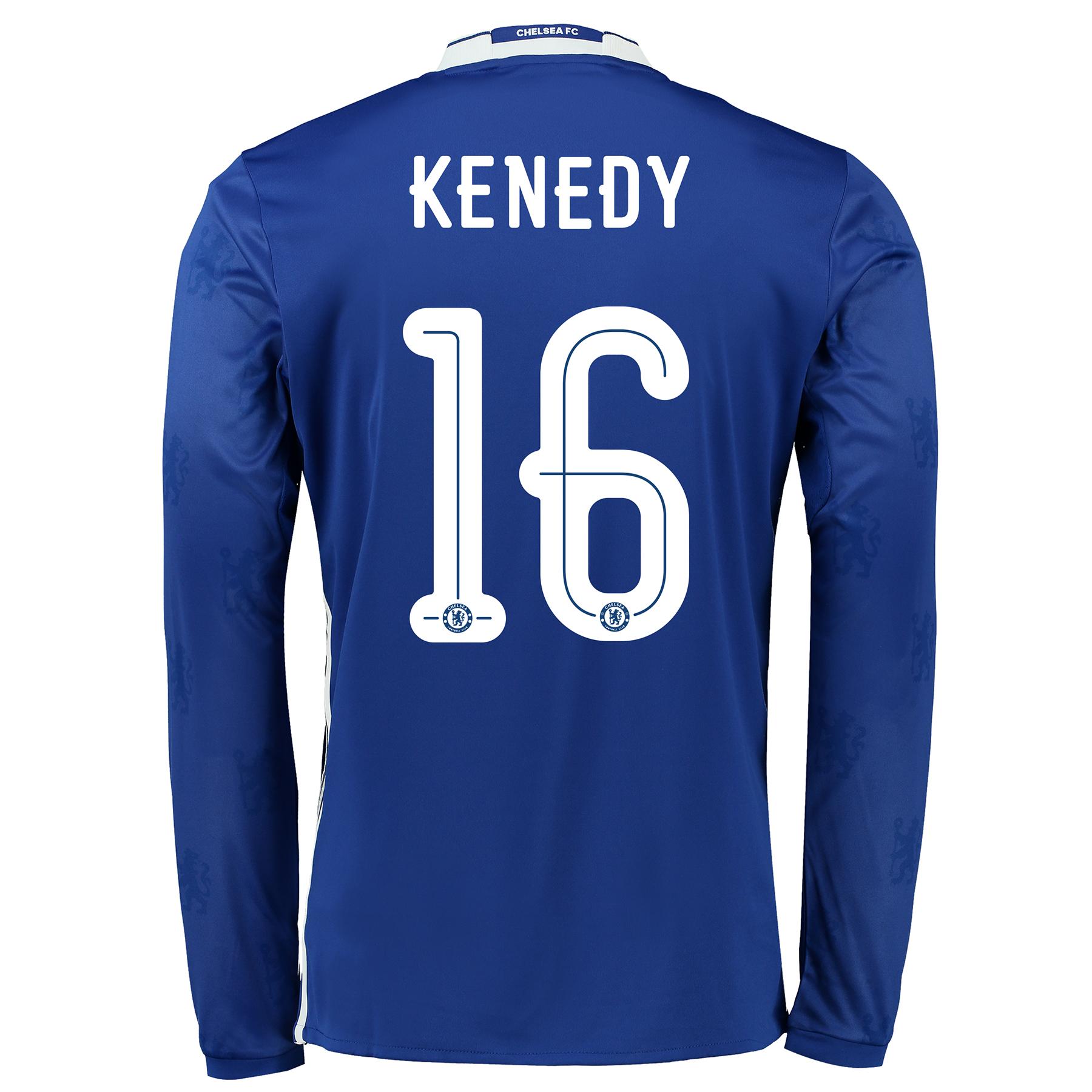 Chelsea Linear Home Shirt 2016-17 - Long Sleeve with Kenedy 16 printin