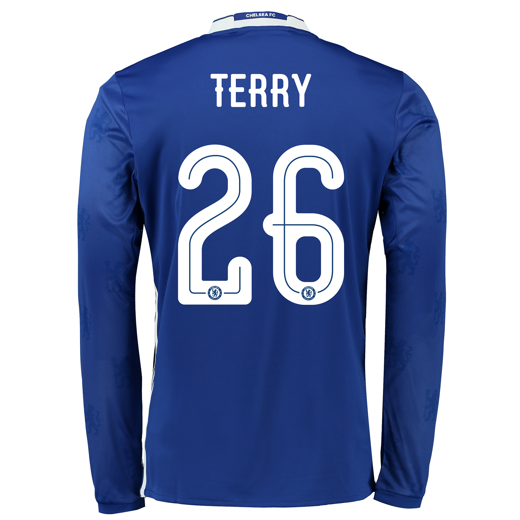 Chelsea Linear Home Shirt 2016-17 - Long Sleeve with Terry 26 printing