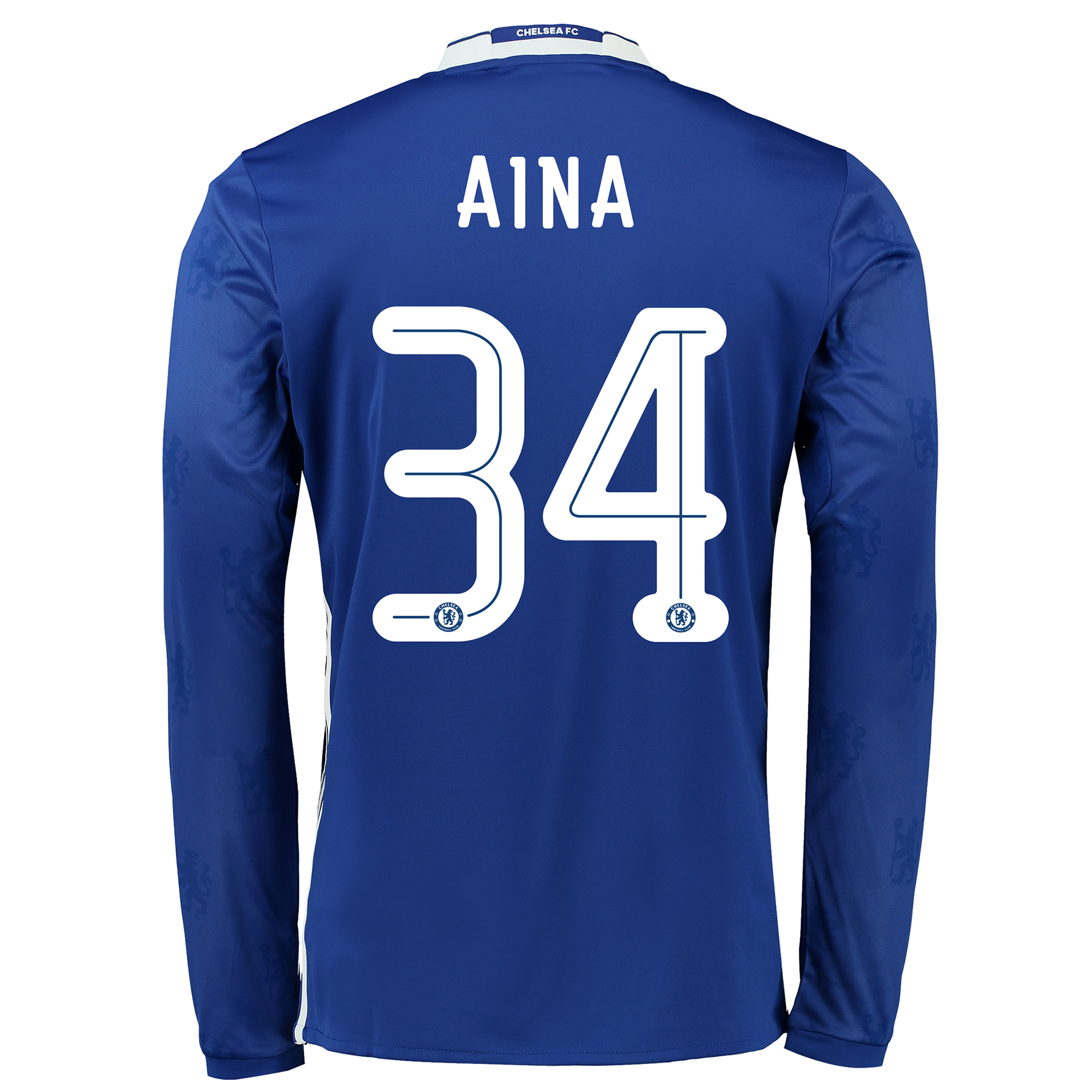 Chelsea Linear Home Shirt 2016-17 - Long Sleeve with Aina 34 printing