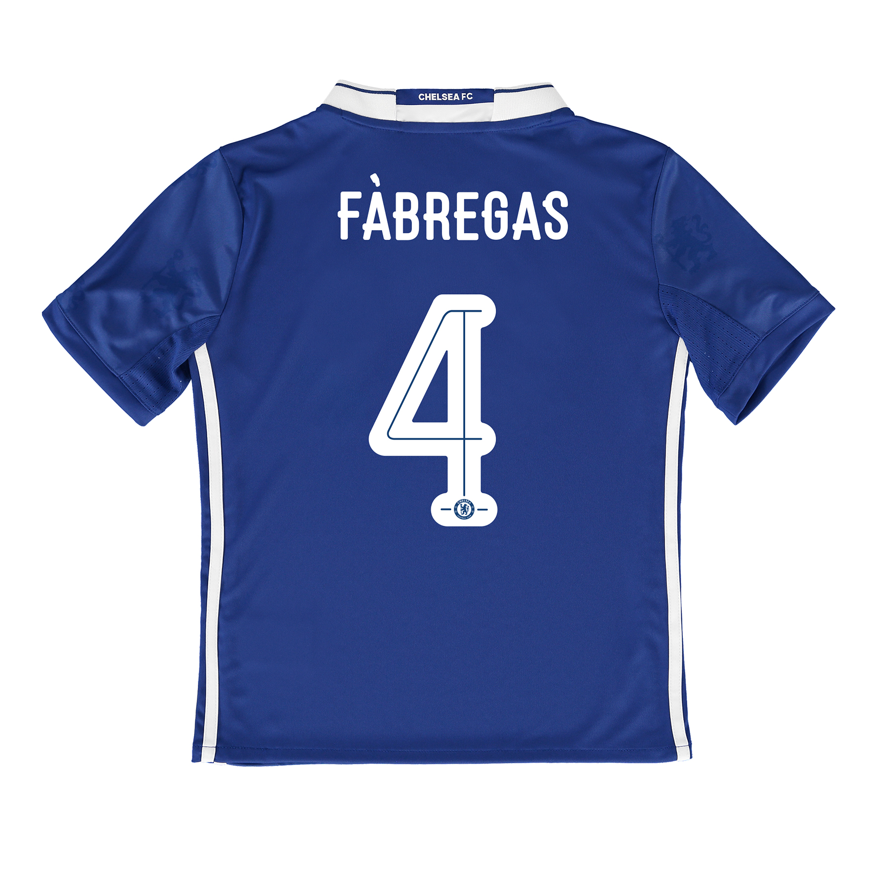 Chelsea Linear Home Shirt 2016-17 - Kids with Fàbregas 4 printing