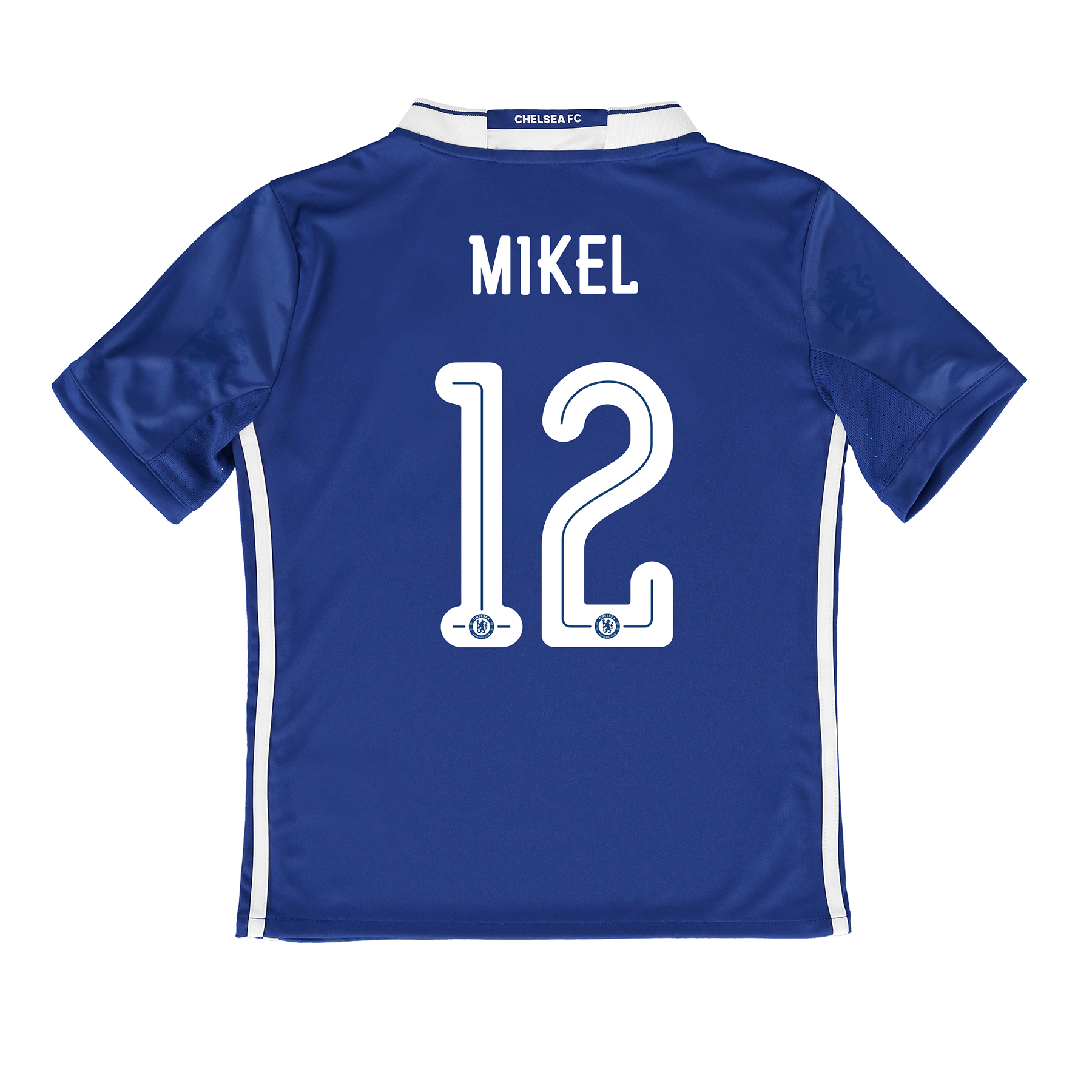 Chelsea Linear Home Shirt 2016-17 - Kids with Mikel 12 printing
