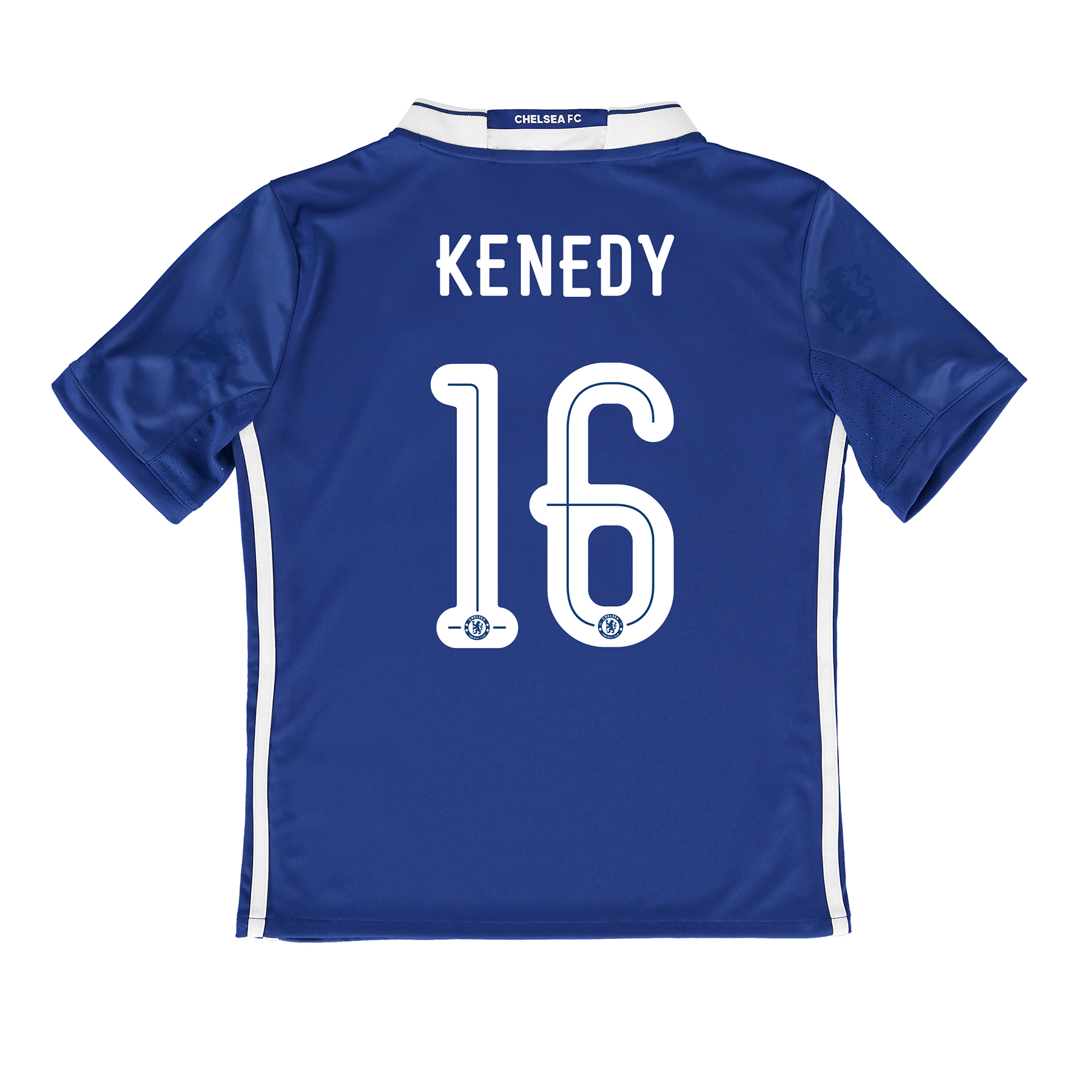 Chelsea Linear Home Shirt 2016-17 - Kids with Kenedy 16 printing