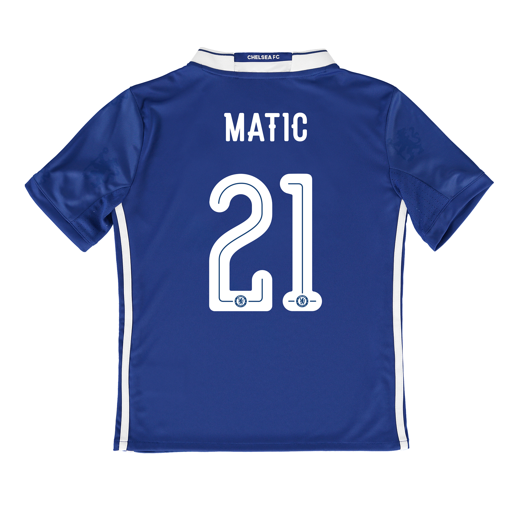 Chelsea Linear Home Shirt 2016-17 - Kids with Matic 21 printing