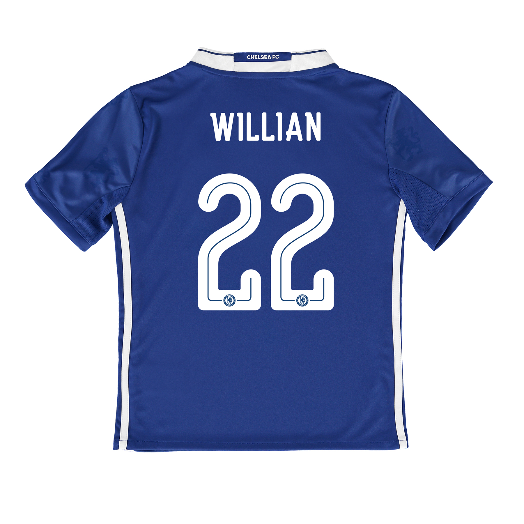 Chelsea Linear Home Shirt 2016-17 - Kids with Willian 22 printing