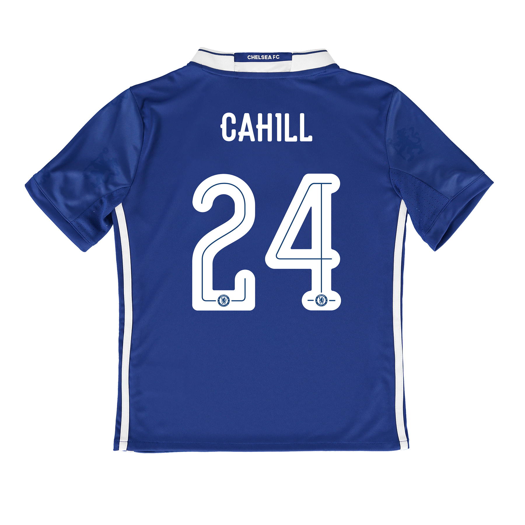 Chelsea Linear Home Shirt 2016-17 - Kids with Cahill 24 printing
