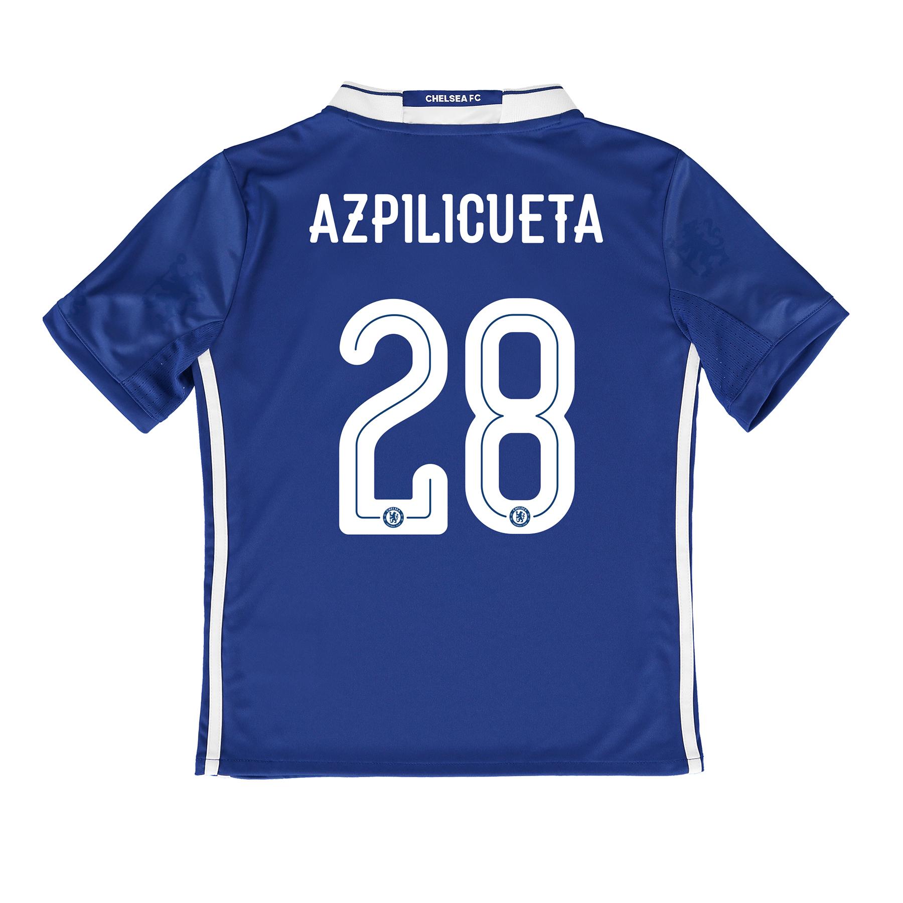 Chelsea Linear Home Shirt 2016-17 - Kids with Azpilicueta 28 printing