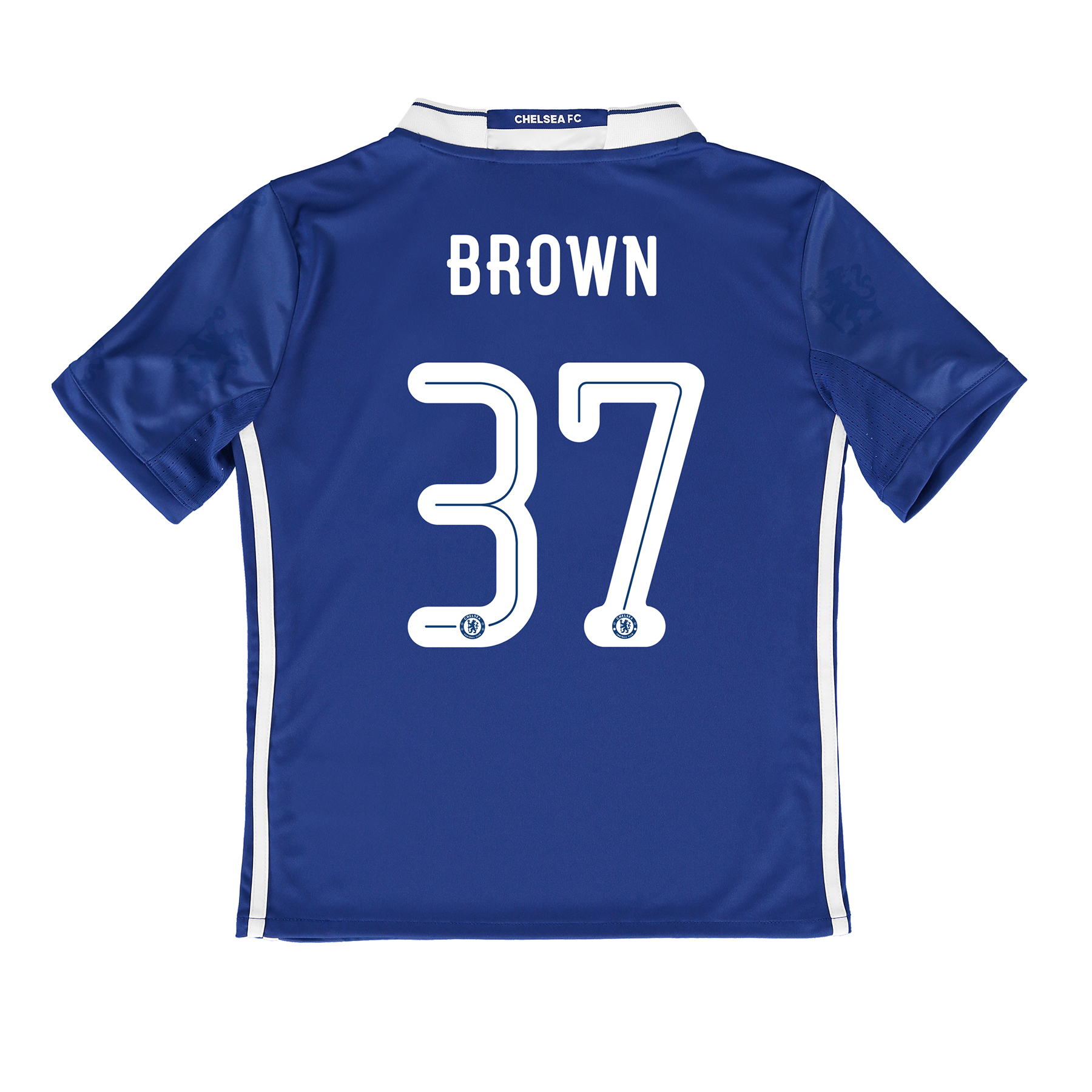 Chelsea Linear Home Shirt 2016-17 - Kids with Brown 37 printing