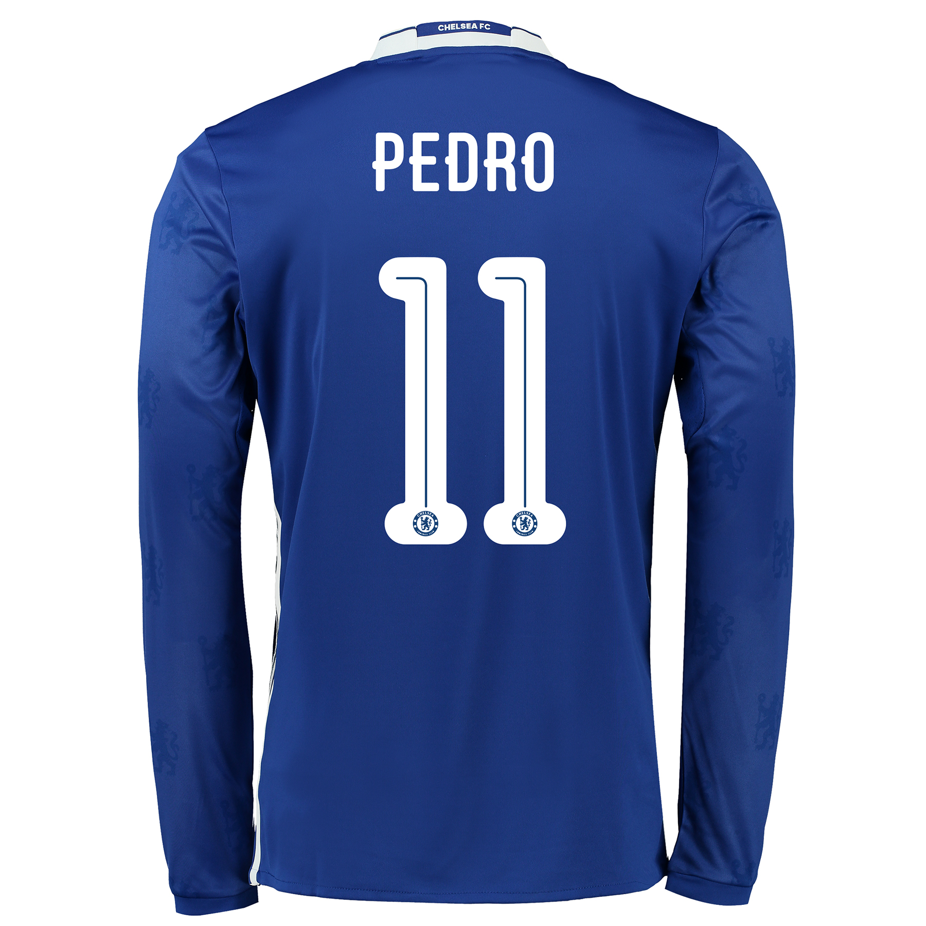 Chelsea Linear Home Shirt 2016-17 - Kids - Long Sleeve with Pedro 11 p