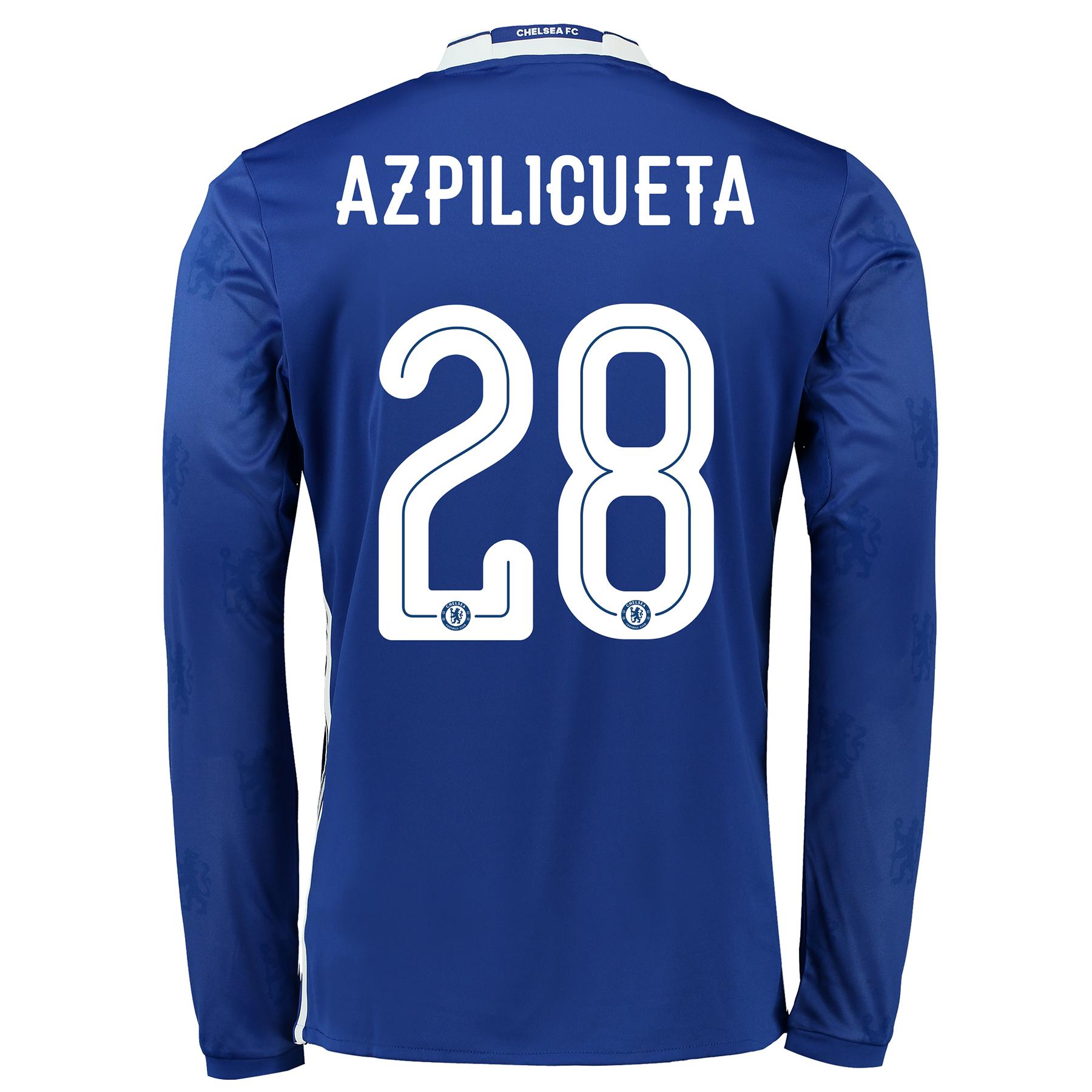 Chelsea Linear Home Shirt 2016-17 - Kids - Long Sleeve with Azpilicuet