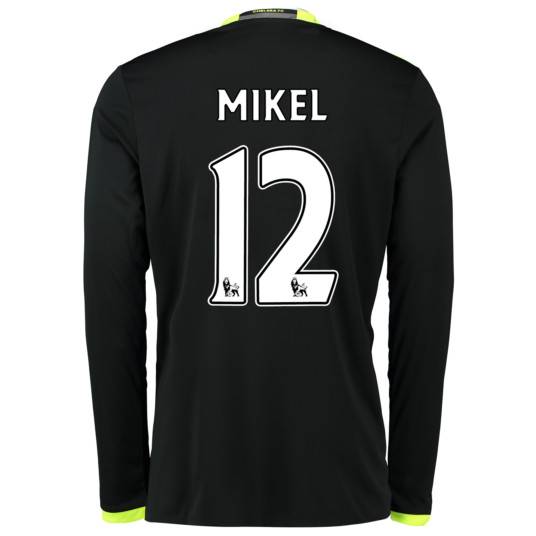 Chelsea Away Shirt 16-17 - Long Sleeve with Mikel 12 printing