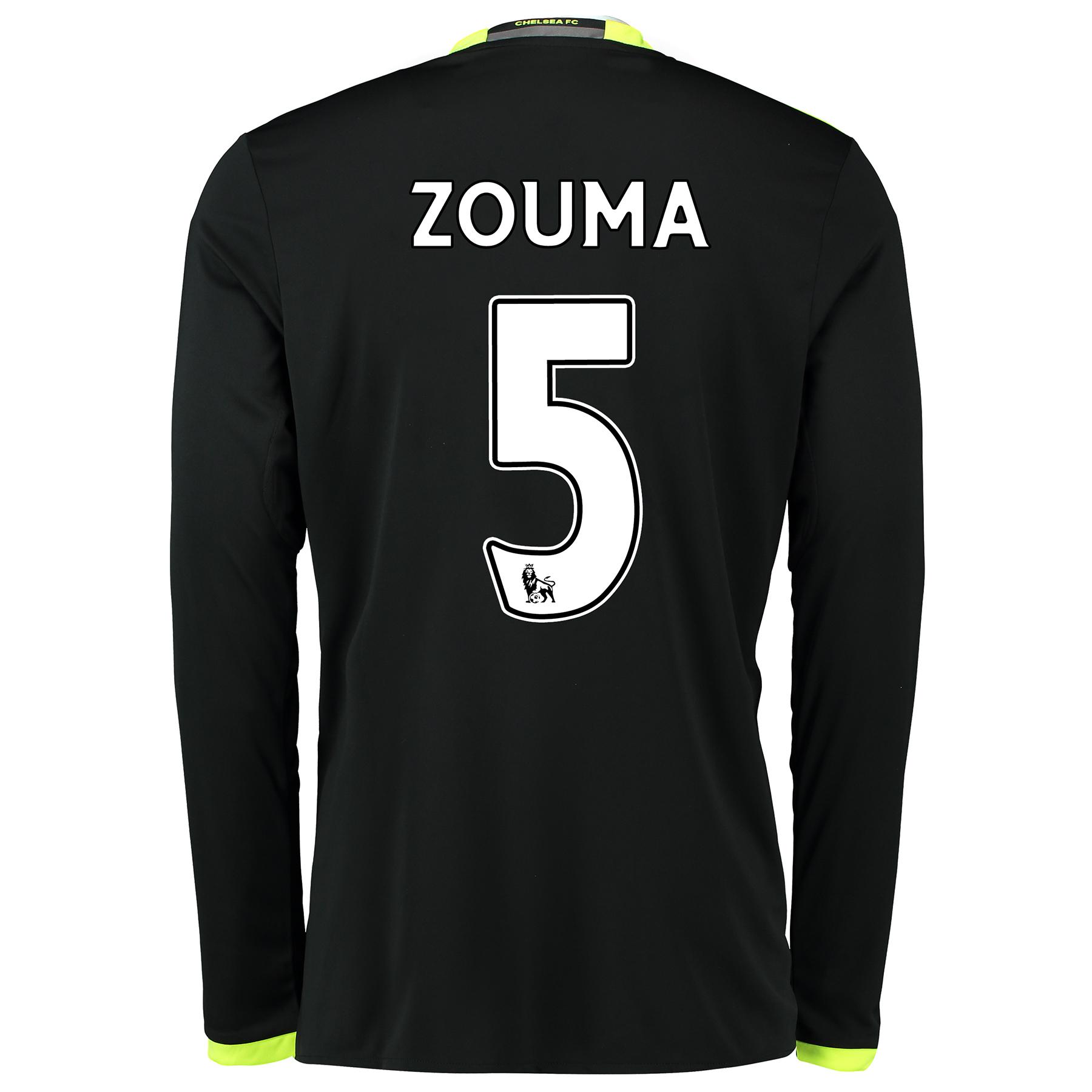 Chelsea Away Shirt 16-17 - Kids - Long Sleeve with ZOUMA 5 printing