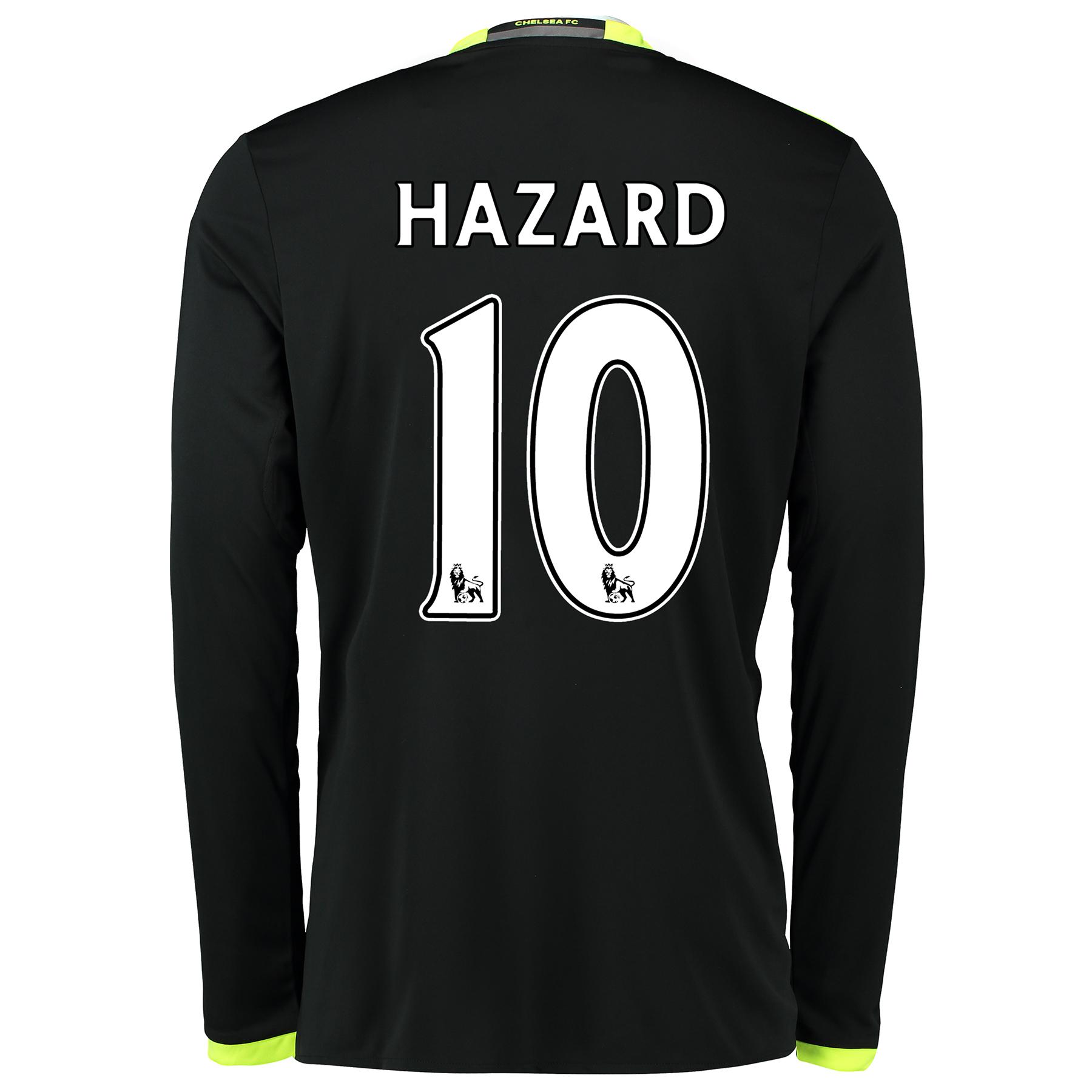 Chelsea Away Shirt 16-17 - Kids - Long Sleeve with Hazard 10 printing