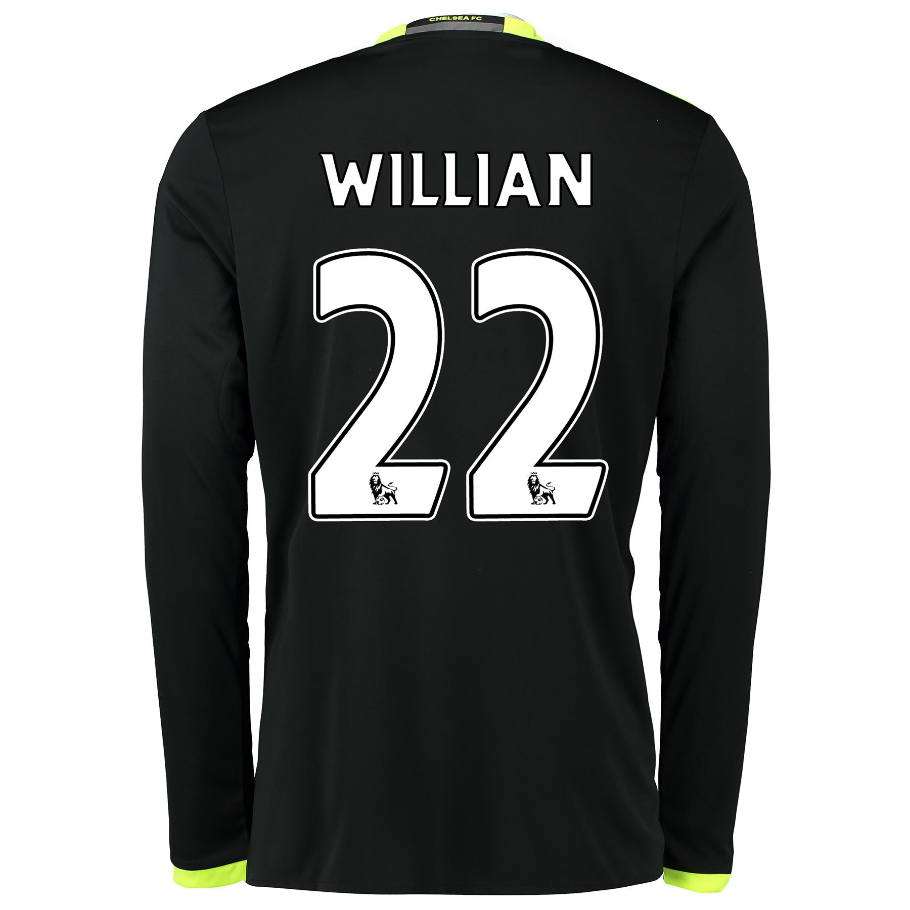 Chelsea Away Shirt 16-17 - Kids - Long Sleeve with Willian 22 printing