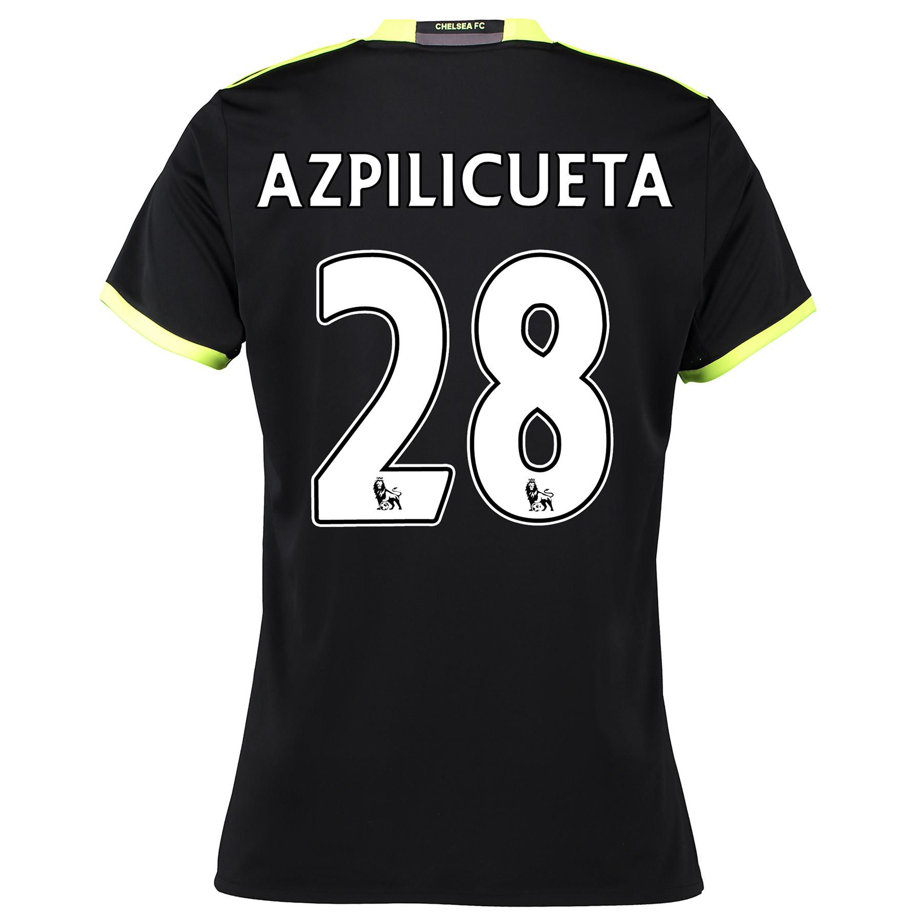 Chelsea Away Shirt 16-17 - Womens with Azpilicueta 28 printing