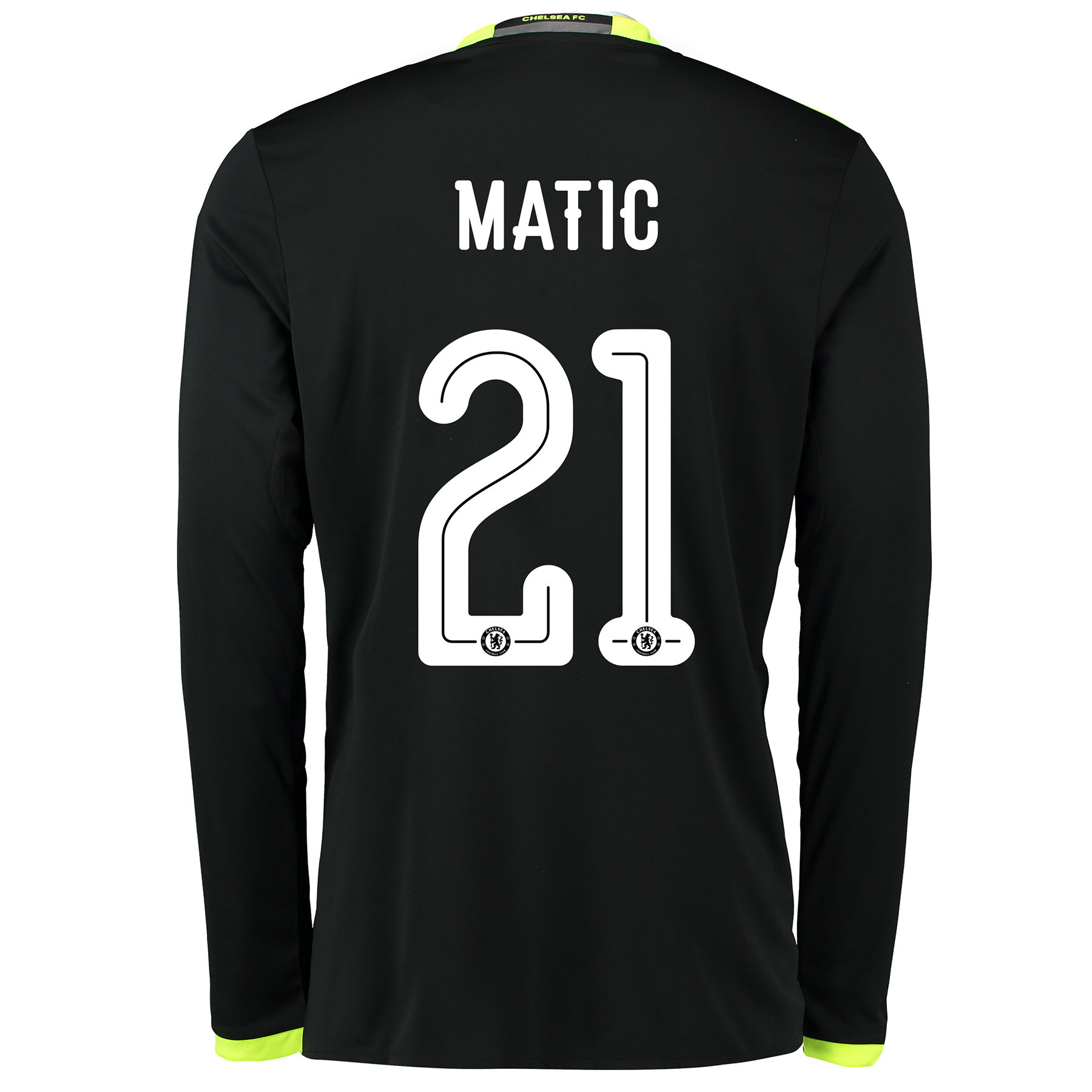 Chelsea Linear Away Shirt 16-17 - Long Sleeve with Matic 21 printing