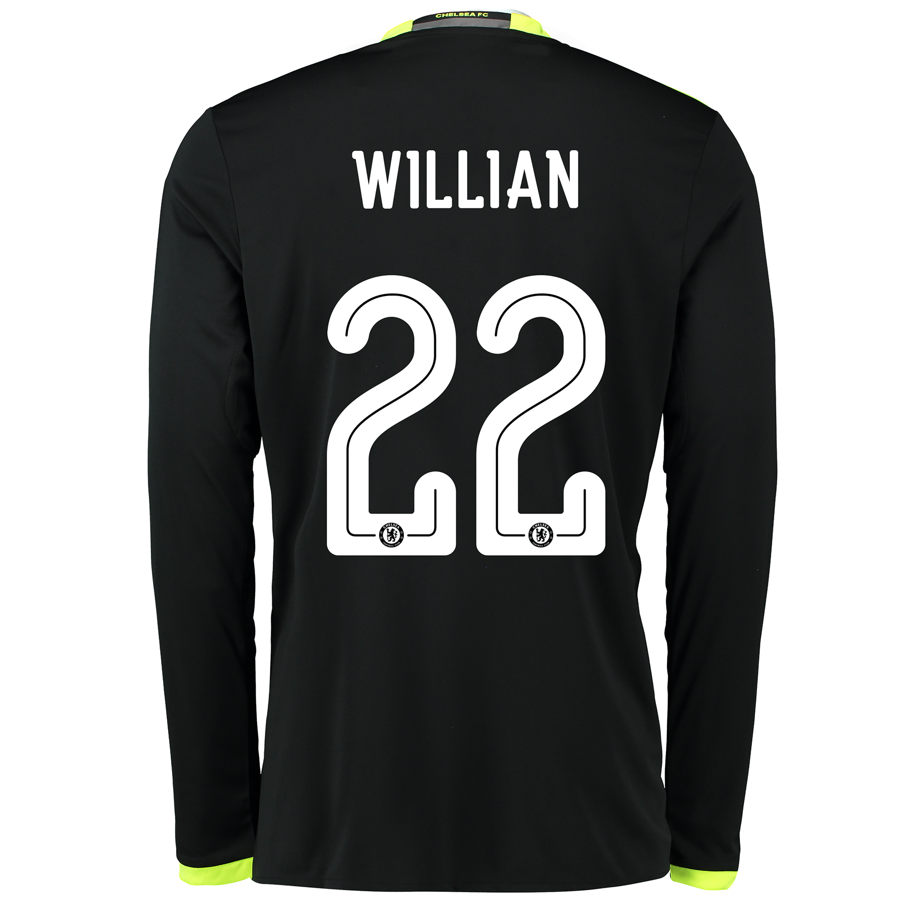Chelsea Linear Away Shirt 16-17 - Long Sleeve with Willian 22 printing
