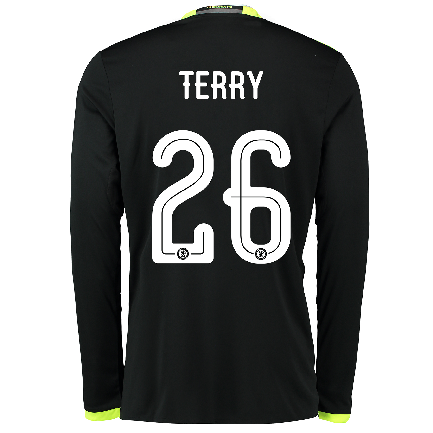 Chelsea Linear Away Shirt 16-17 - Long Sleeve with Terry 26 printing