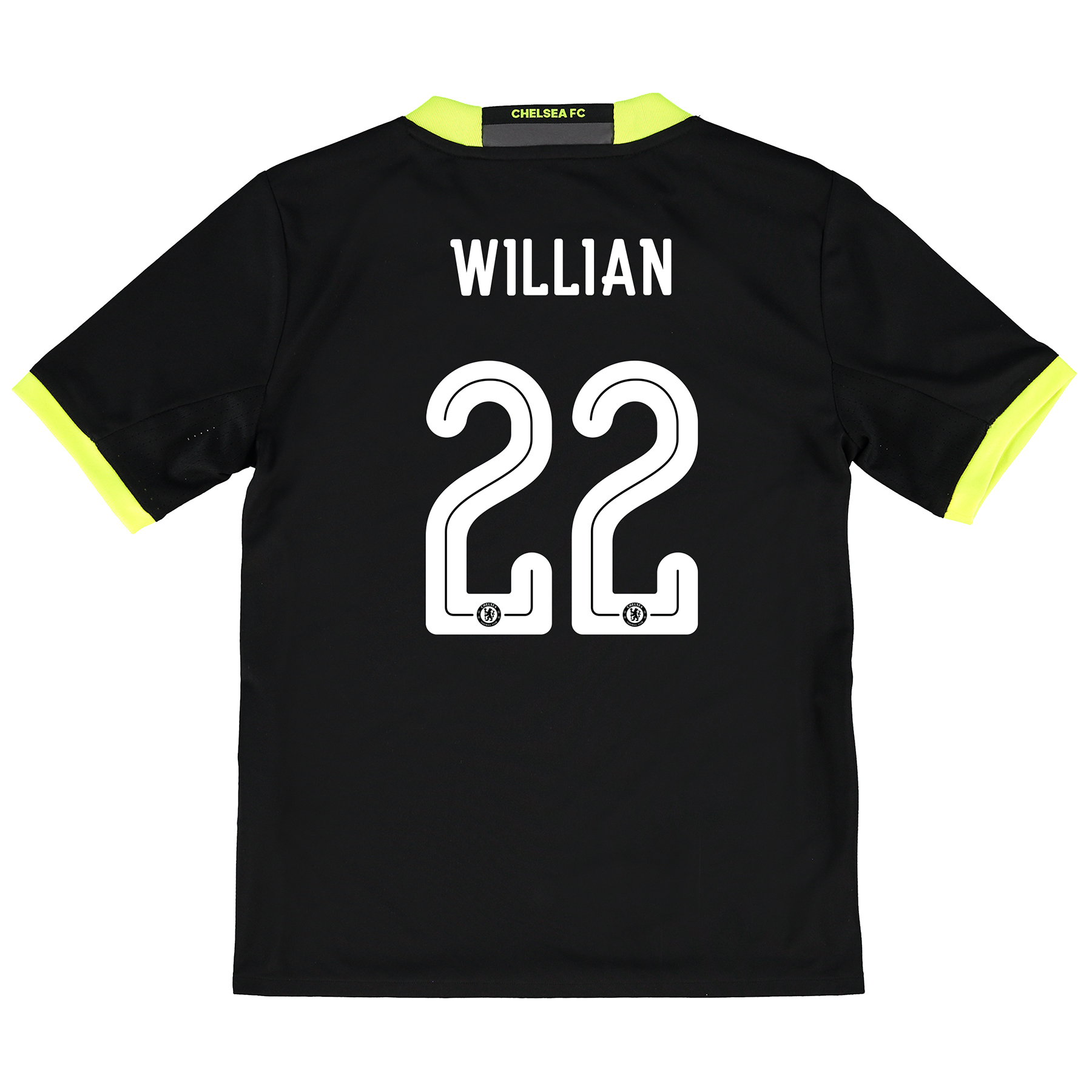 Chelsea Linear Away Shirt 16-17 - Kids with Willian 22 printing