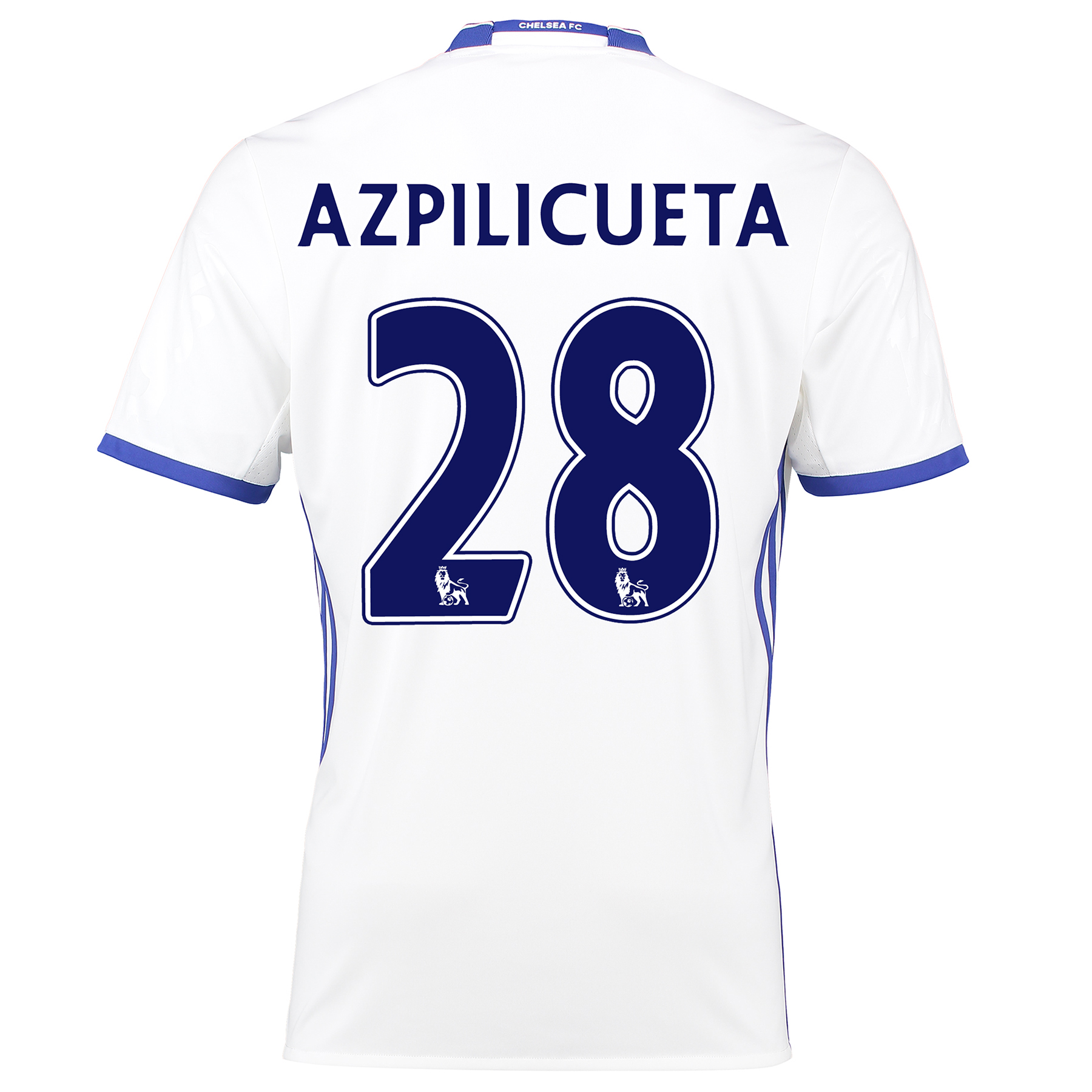 Chelsea Third Shirt 16-17 with Azpilicueta 28 printing