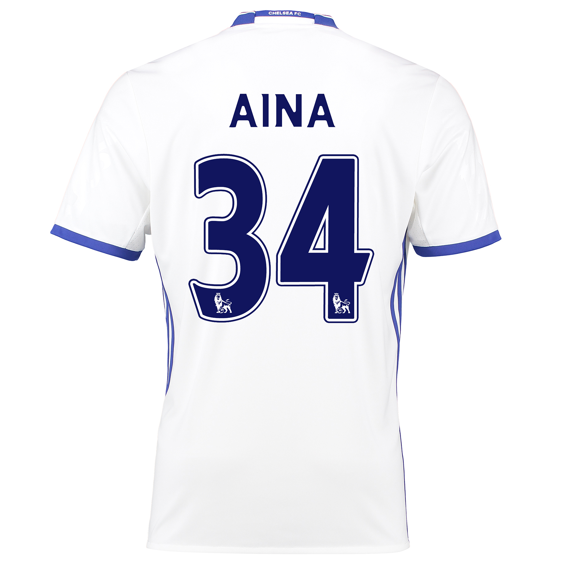 Chelsea Third Shirt 16-17 with Aina 34 printing