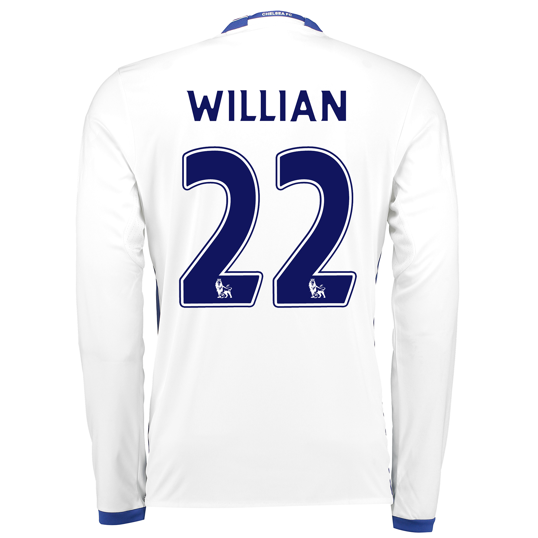 Chelsea Third Shirt 16-17 - Long Sleeve with Willian 22 printing