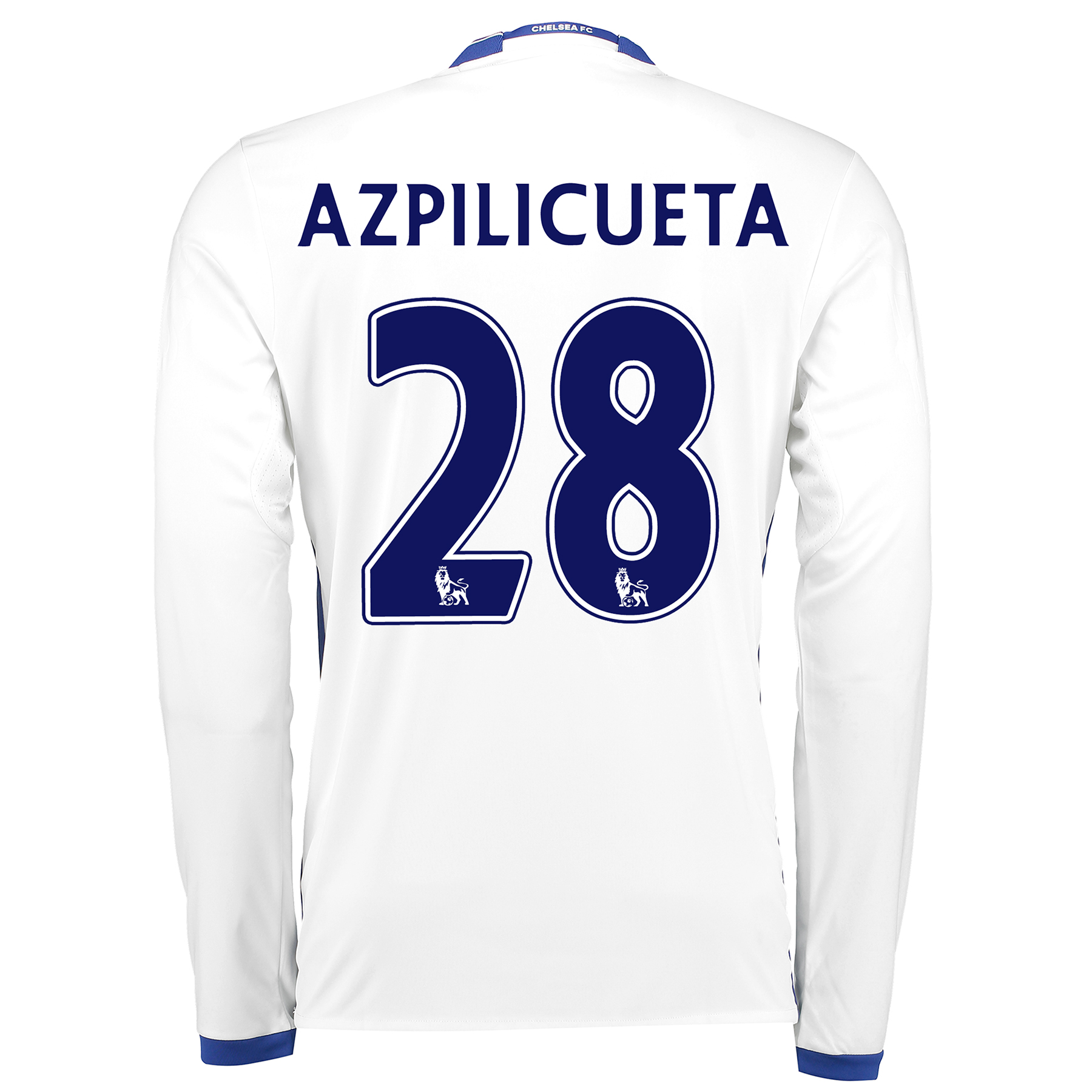 Chelsea Third Shirt 16-17 - Long Sleeve with Azpilicueta 28 printing