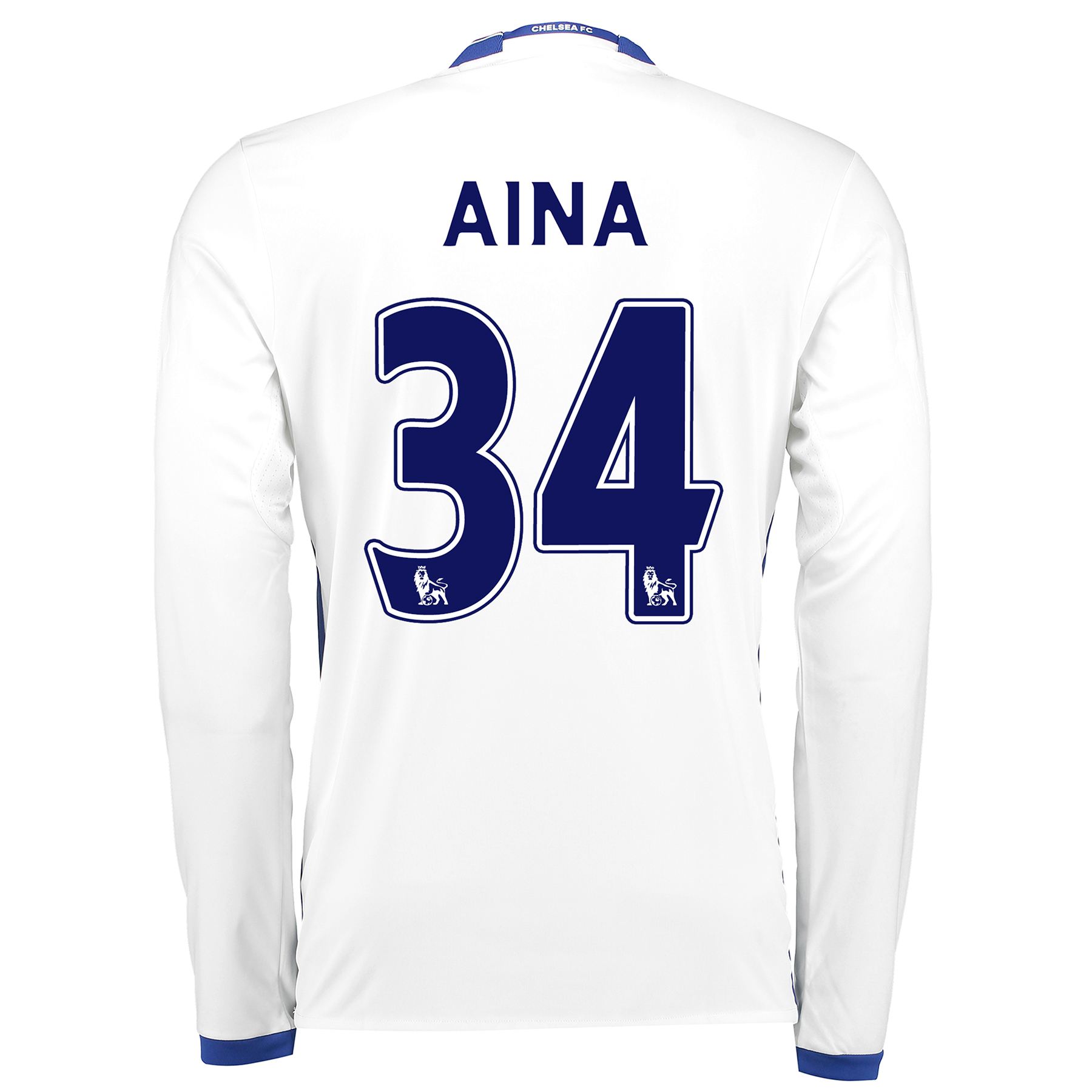 Chelsea Third Shirt 16-17 - Long Sleeve with Aina 34 printing