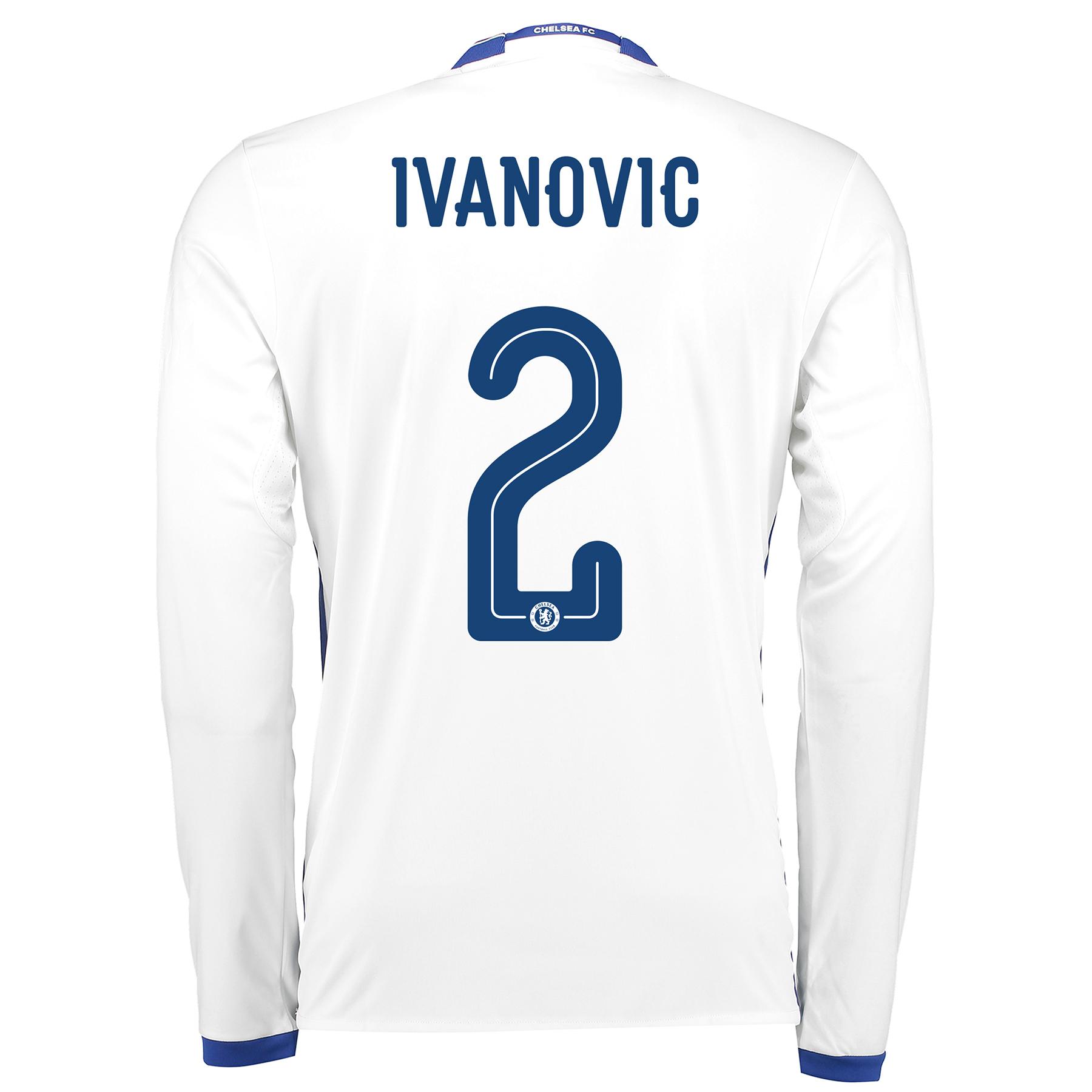 Chelsea Linear Third Shirt 16-17 - Long Sleeve with Ivanovic 2 printin