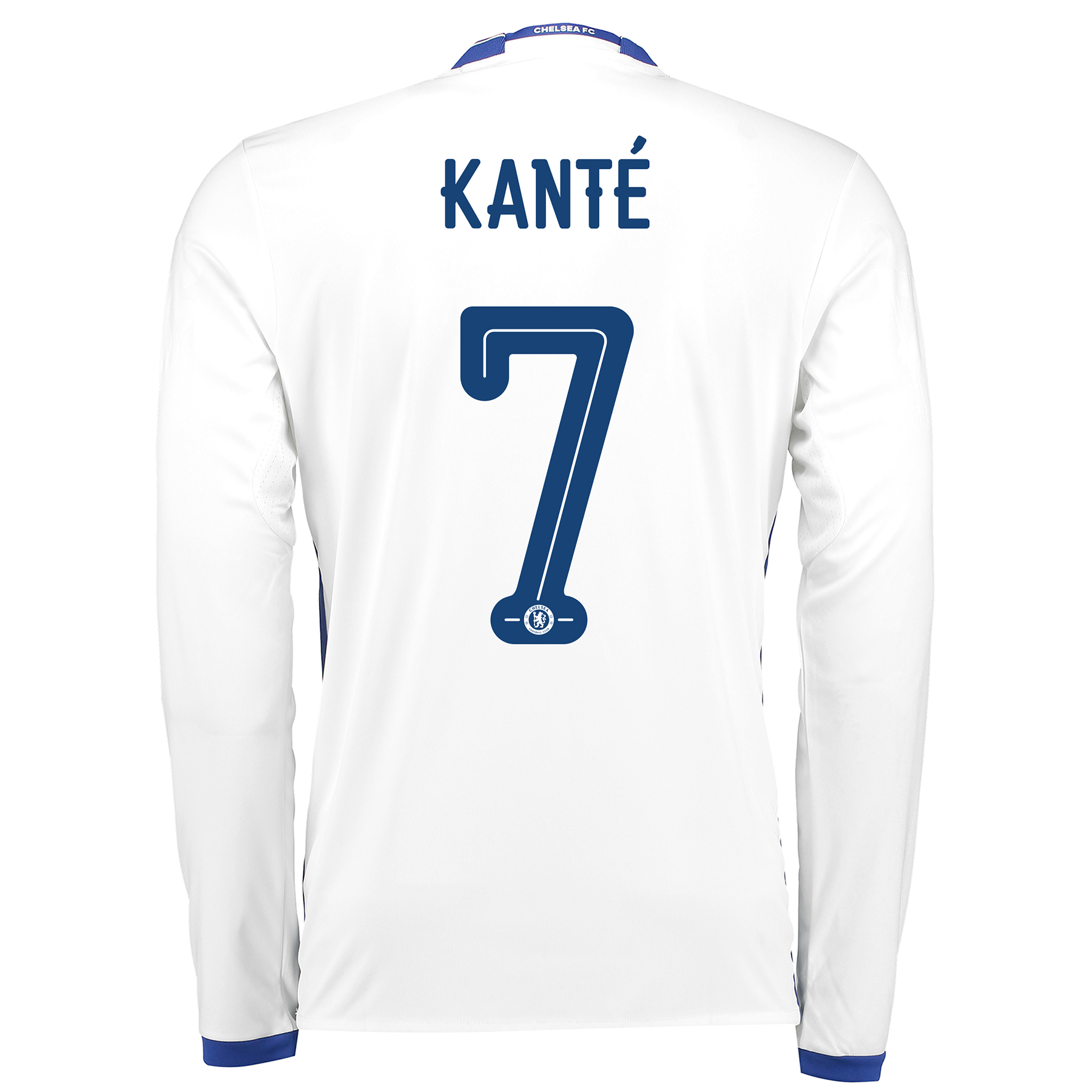 Chelsea Linear Third Shirt 16-17 - Long Sleeve with Kanté 7 printing