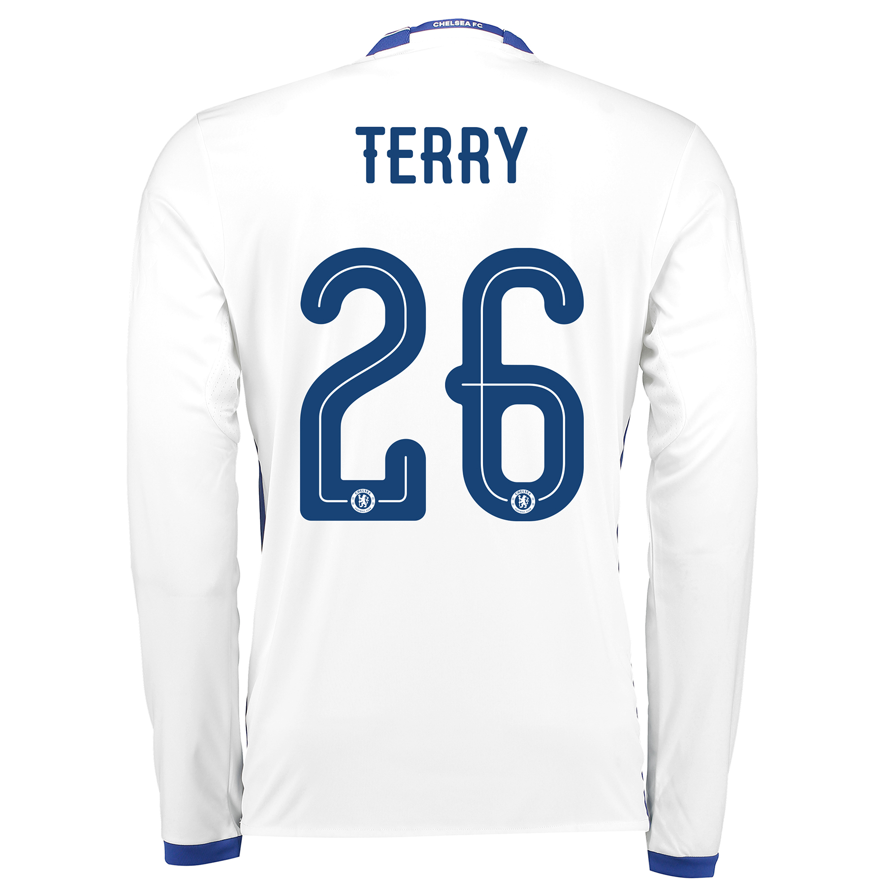 Chelsea Linear Third Shirt 16-17 - Long Sleeve with Terry 26 printing