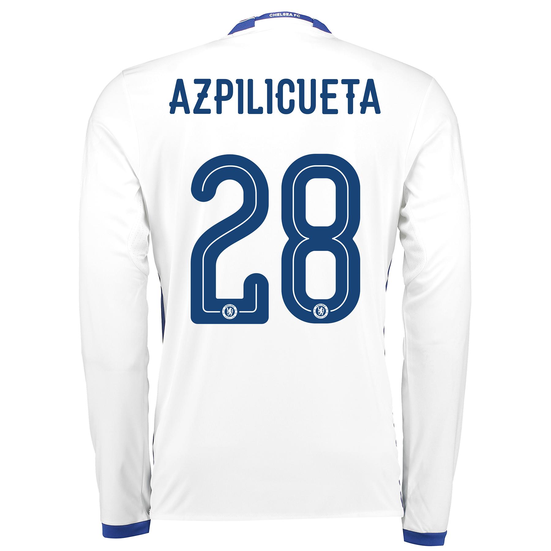 Chelsea Linear Third Shirt 16-17 - Long Sleeve with Azpilicueta 28 pri