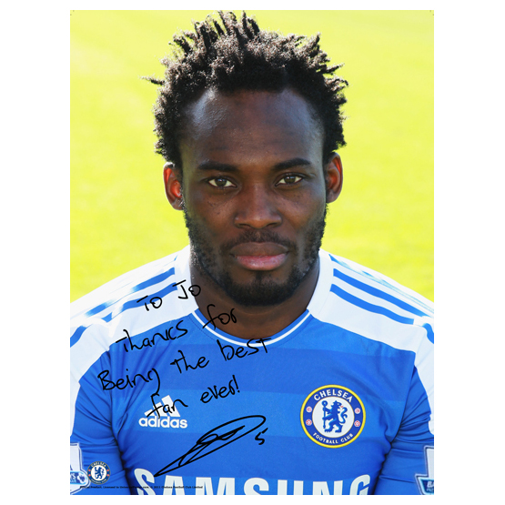 Chelsea Chelsea Personalised Michael Essien Photcall 5 Poster