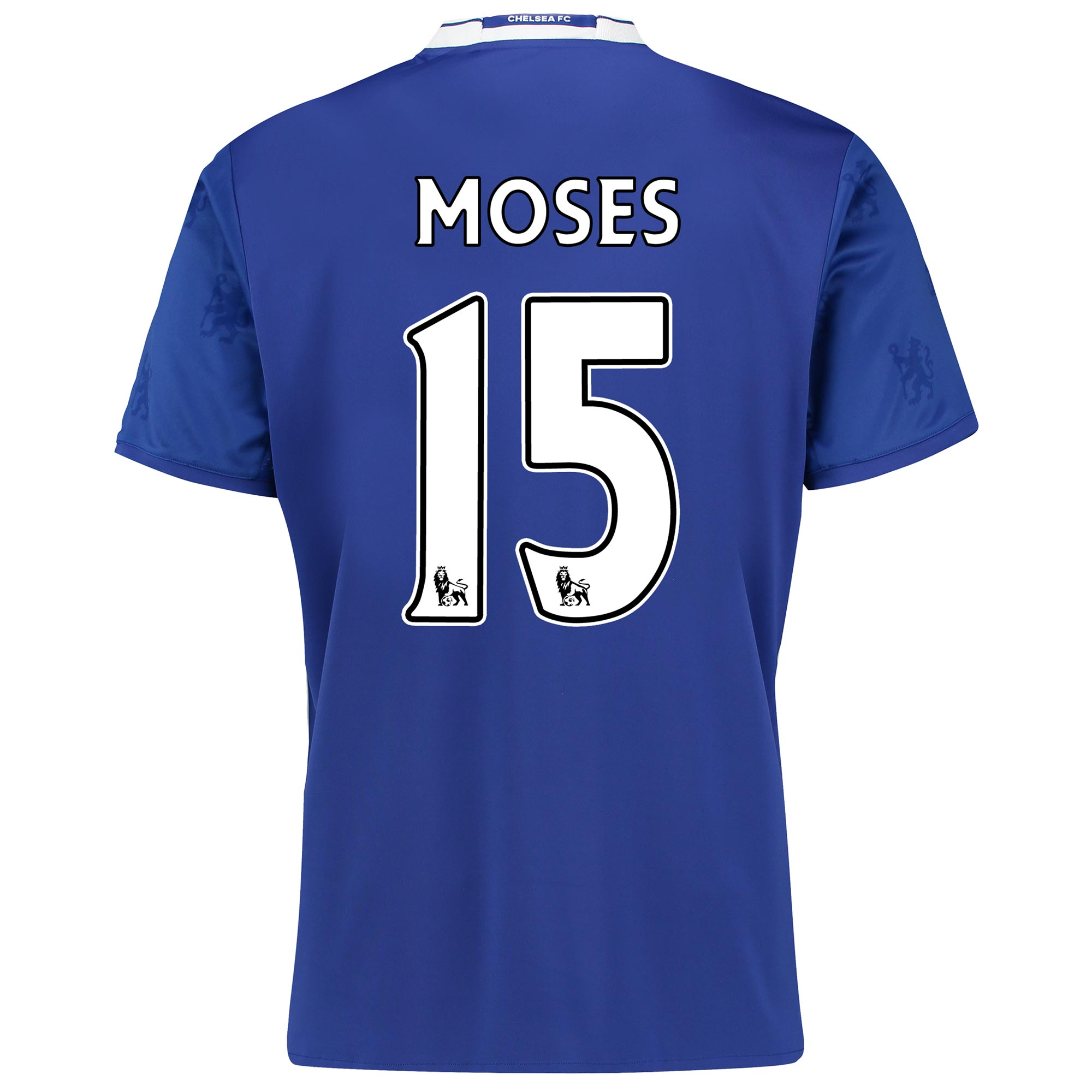 Chelsea Home Shirt 2016-17 with Moses 15 printing