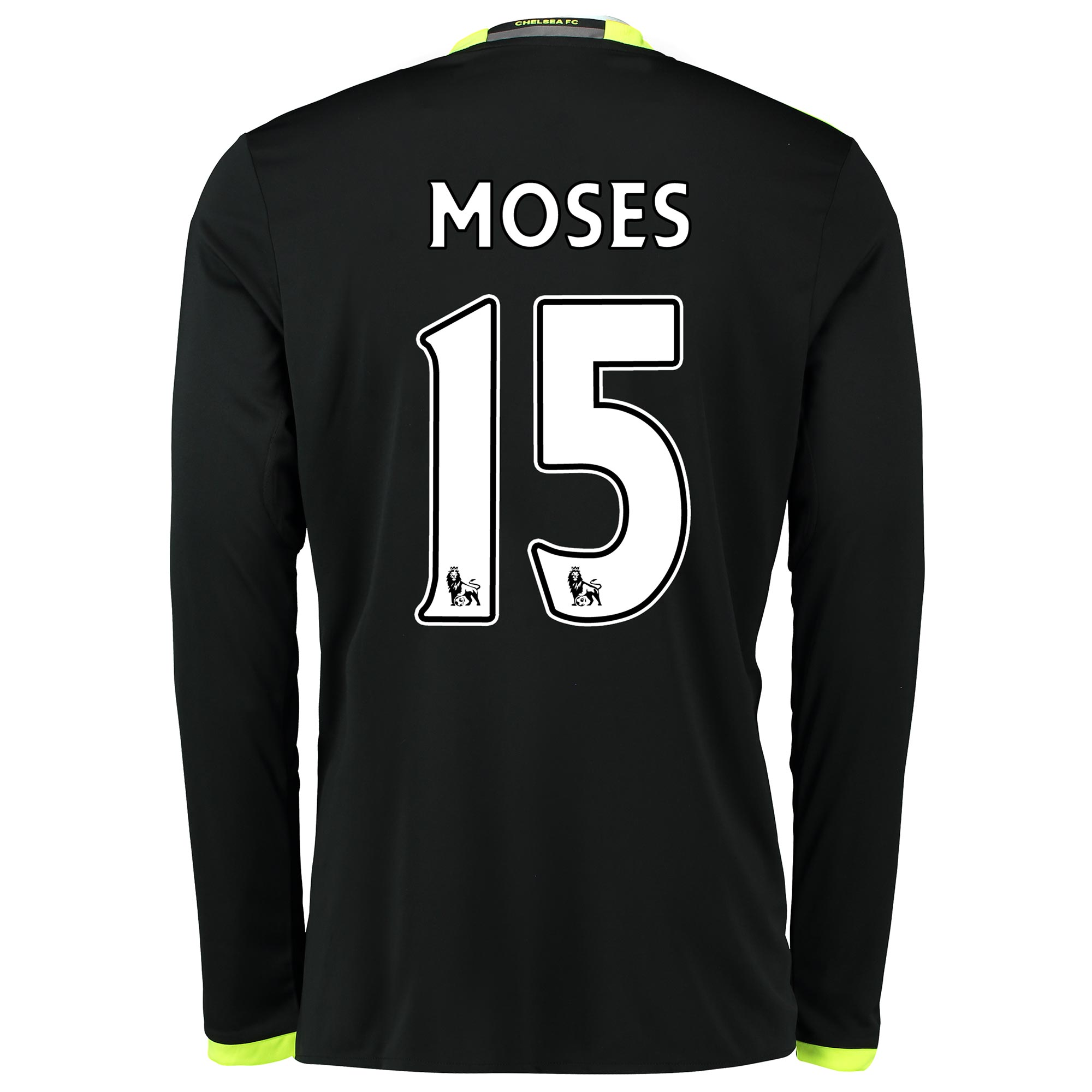 Chelsea Away Shirt 16-17 - Long Sleeve with Moses 15 printing