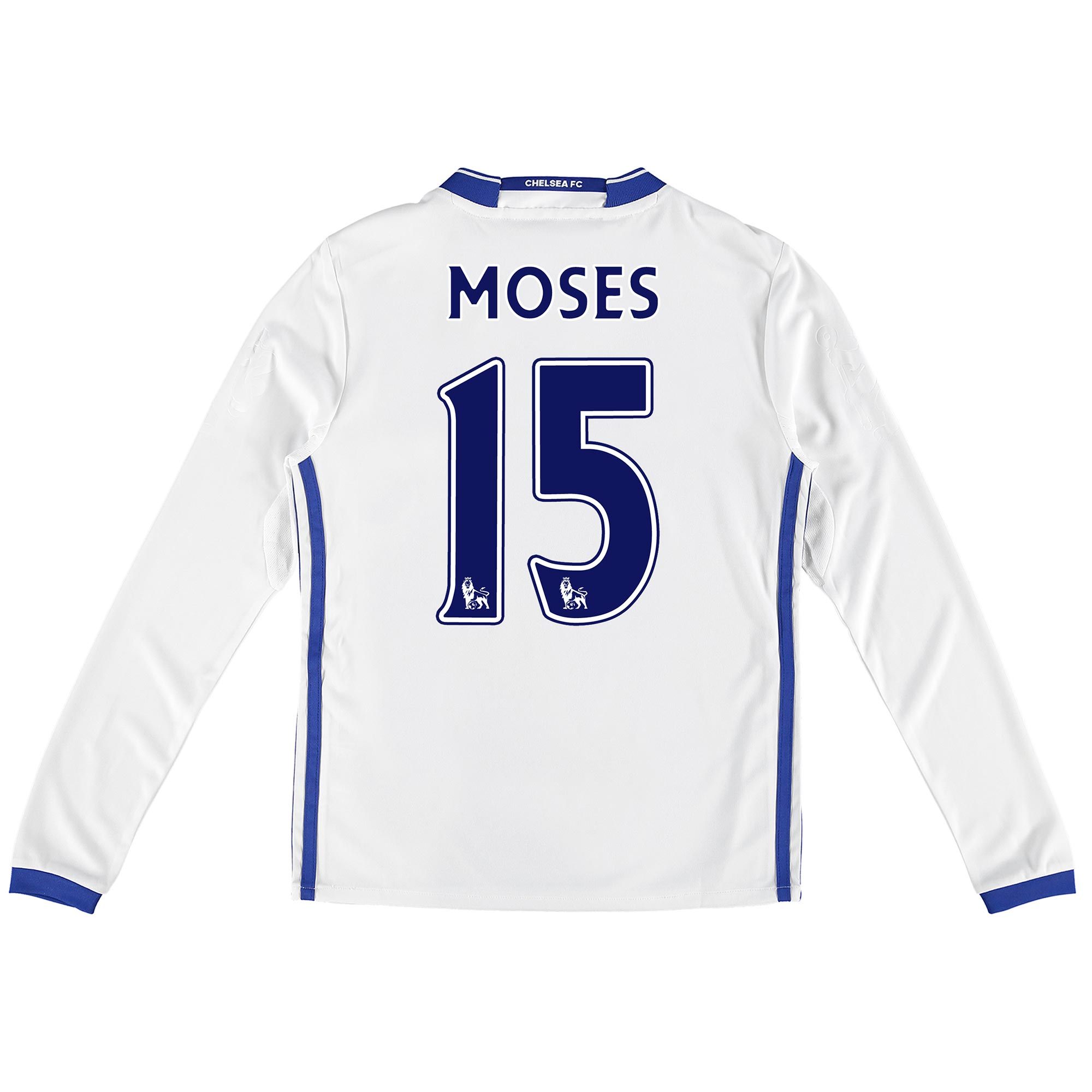 Chelsea Third Shirt 16-17 - Kids - Long Sleeve with Moses 15 printing