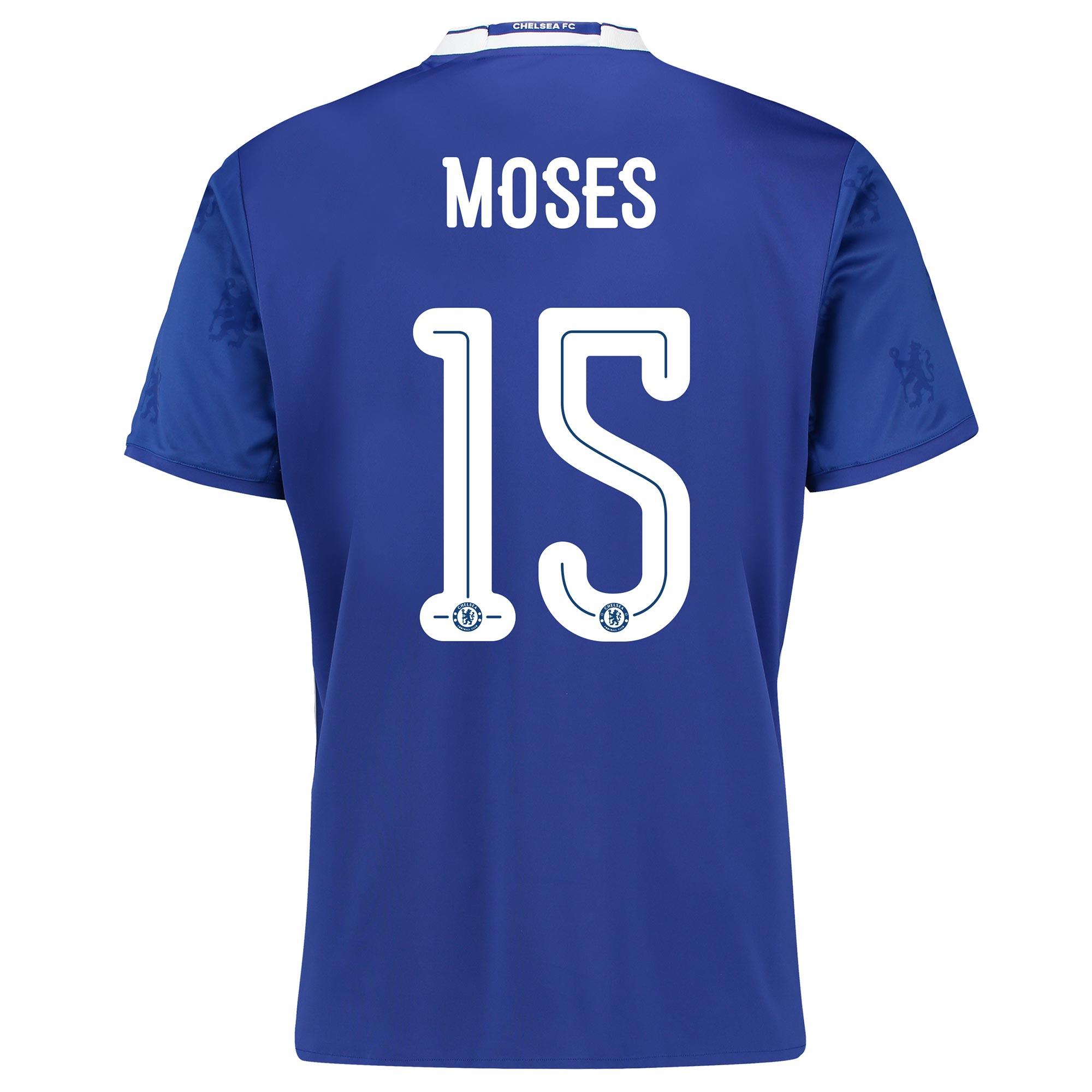 Chelsea Linear Home Shirt 2016-17 with Moses 15 printing