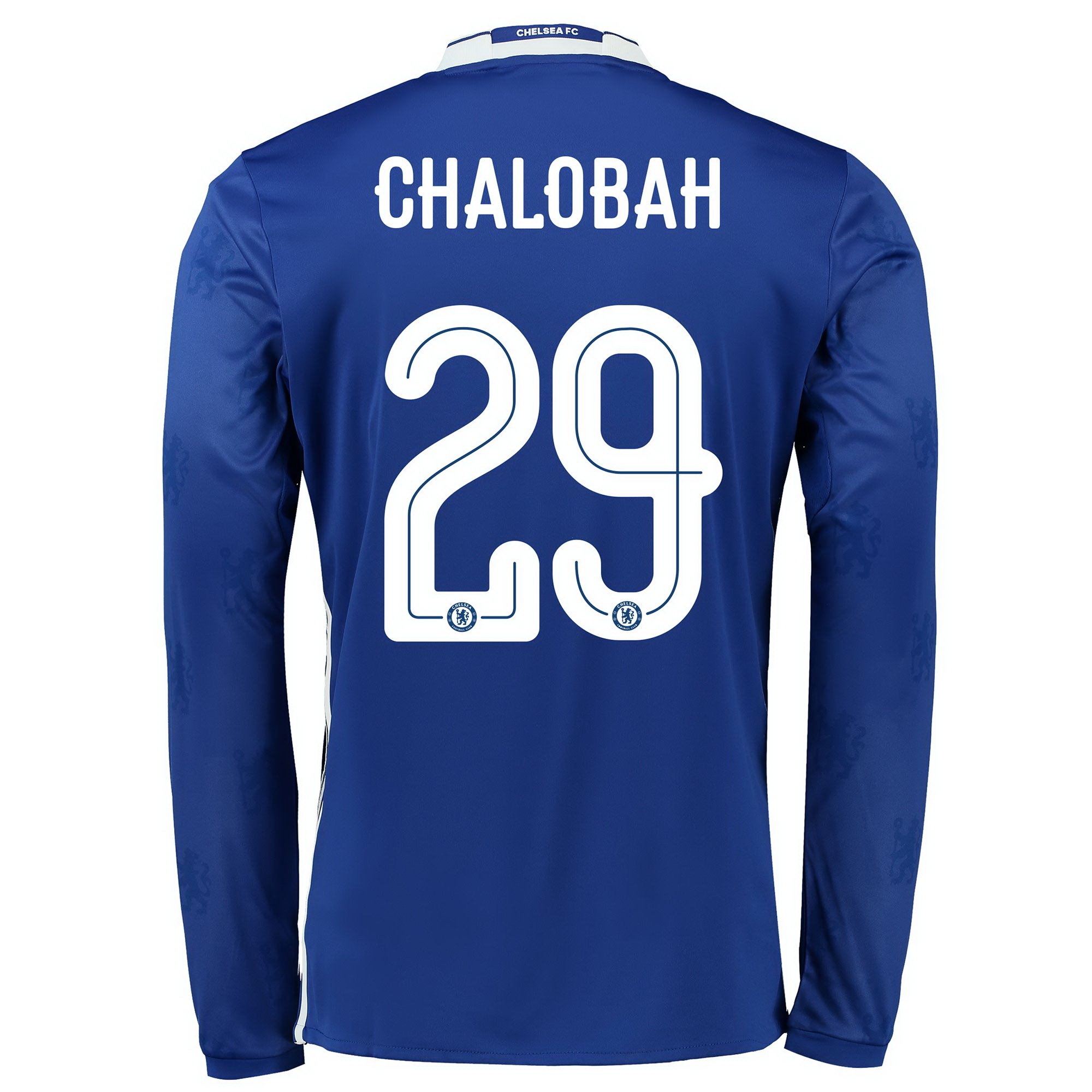 Chelsea Linear Home Shirt 2016-17 - Kids - Long Sleeve with Chalobah 2