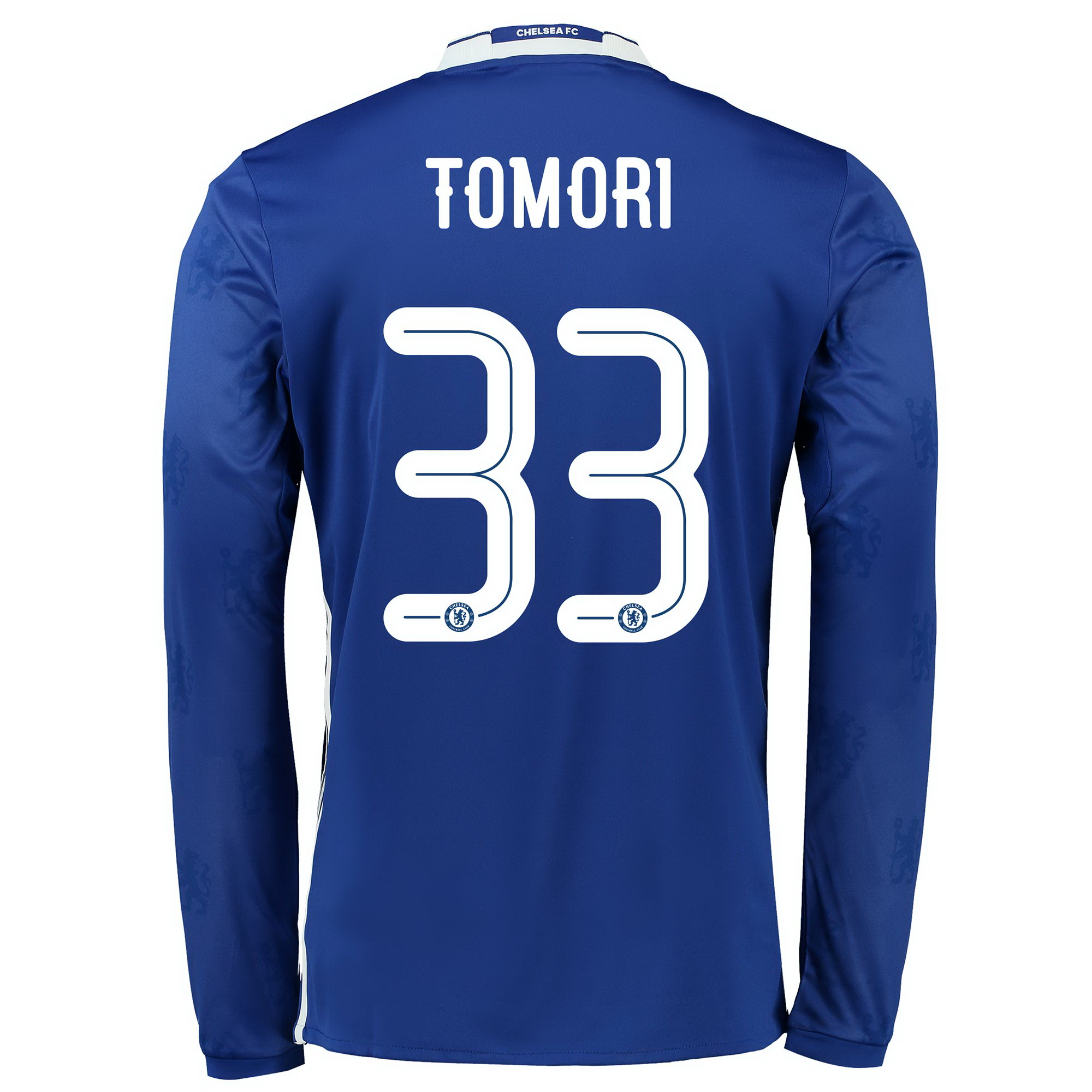 Chelsea Linear Home Shirt 2016-17 - Kids - Long Sleeve with Tomori 33
