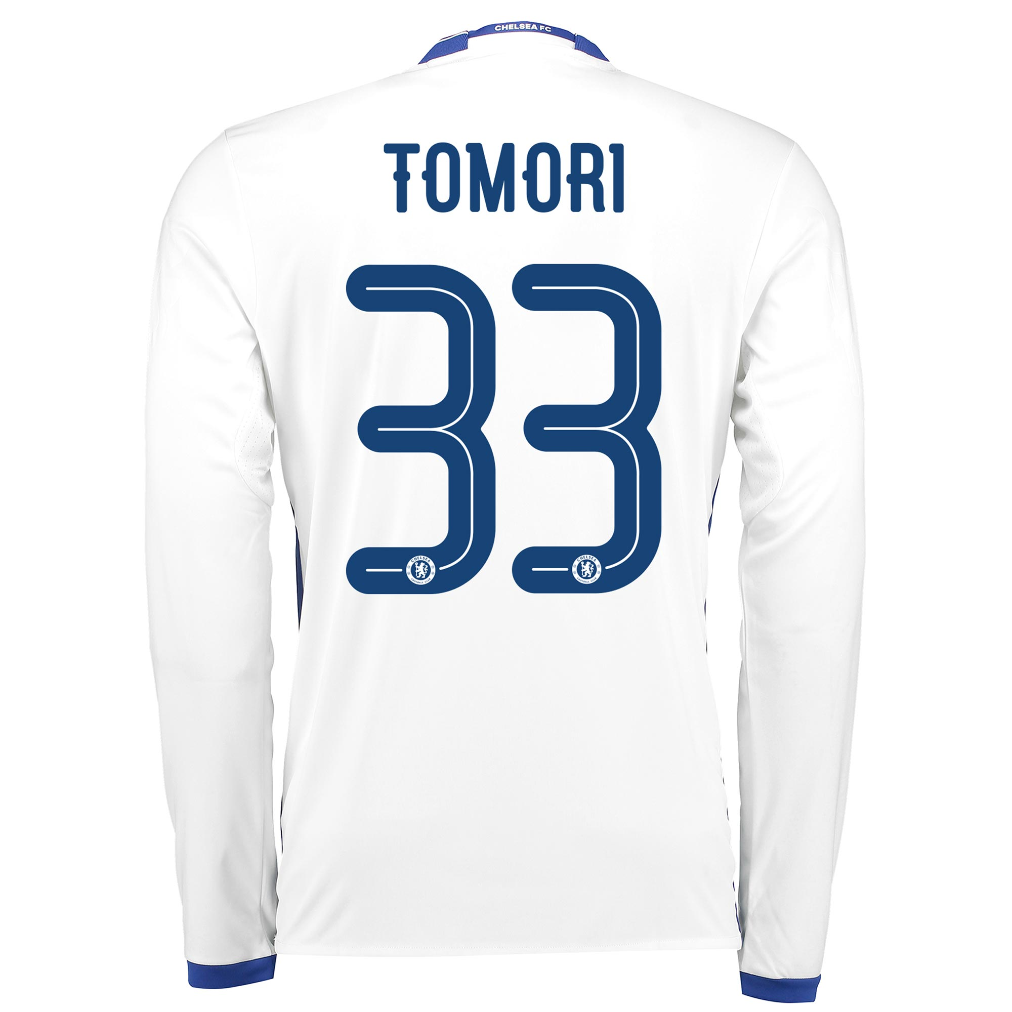 Image of Chelsea Linear Third Shirt 16-17 - Long Sleeve with Tomori 33 printing, N/A