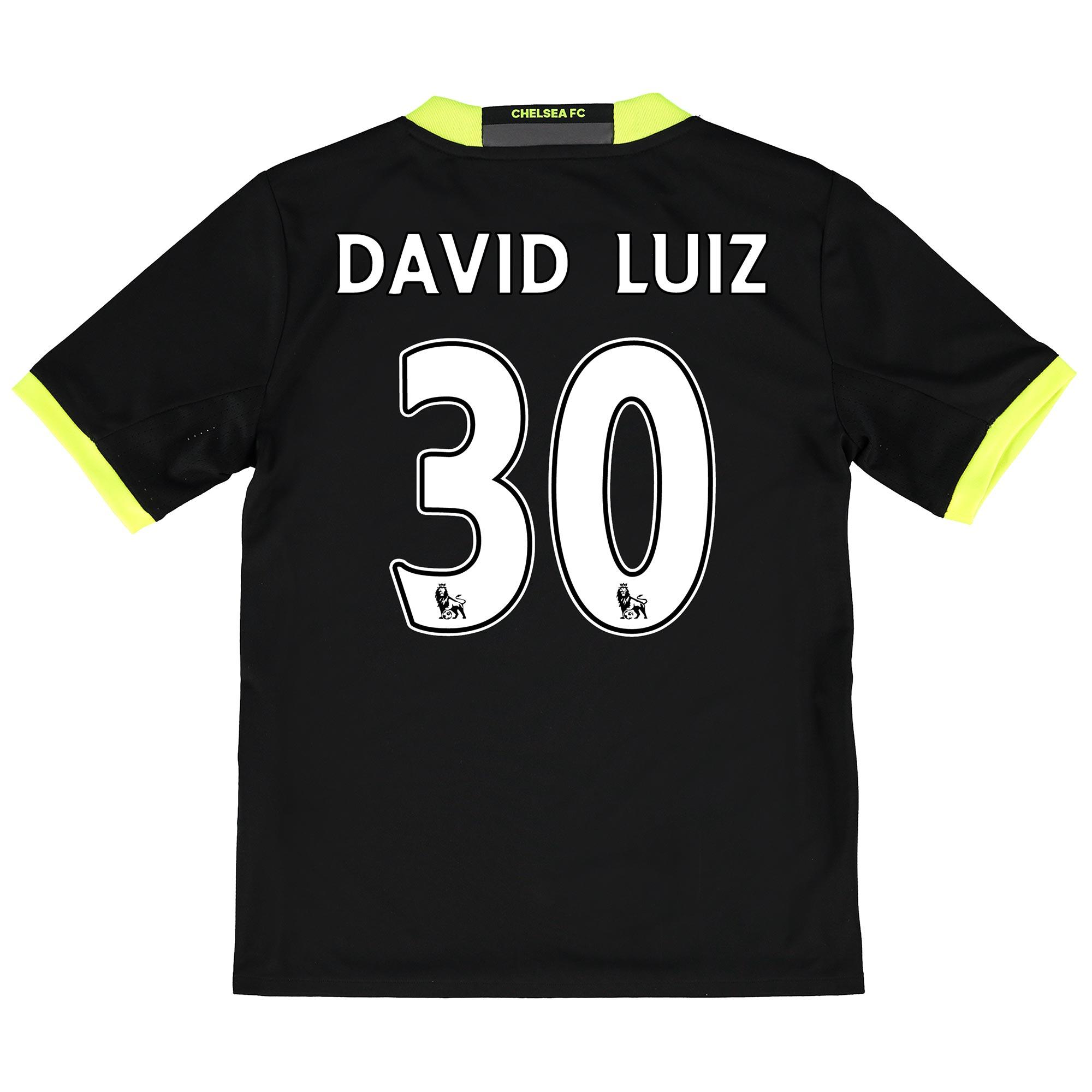 Chelsea Away Shirt 16-17 - Kids with David Luiz 30 printing