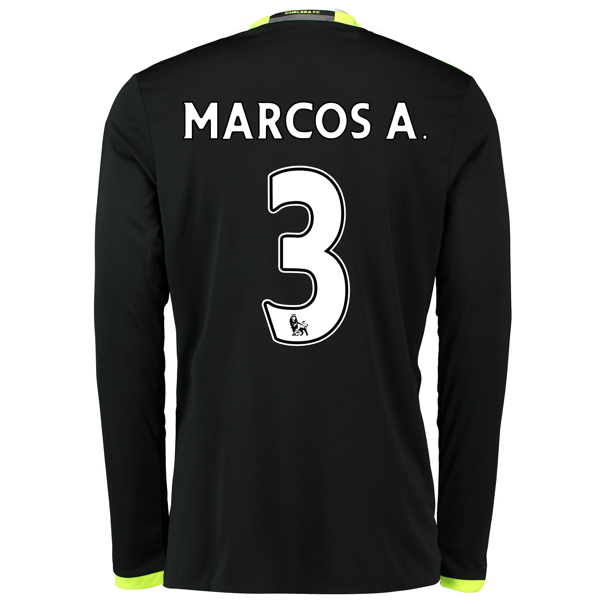 Chelsea Away Shirt 16-17 - Kids - Long Sleeve with Marcos A. 3 printin